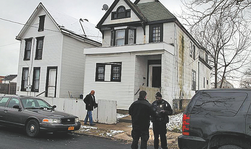 Two people were found dead in this Watson Avenue apartment house earlier this month, apparent victims of drug overdoses. (John Hickey/Buffalo News file photo)