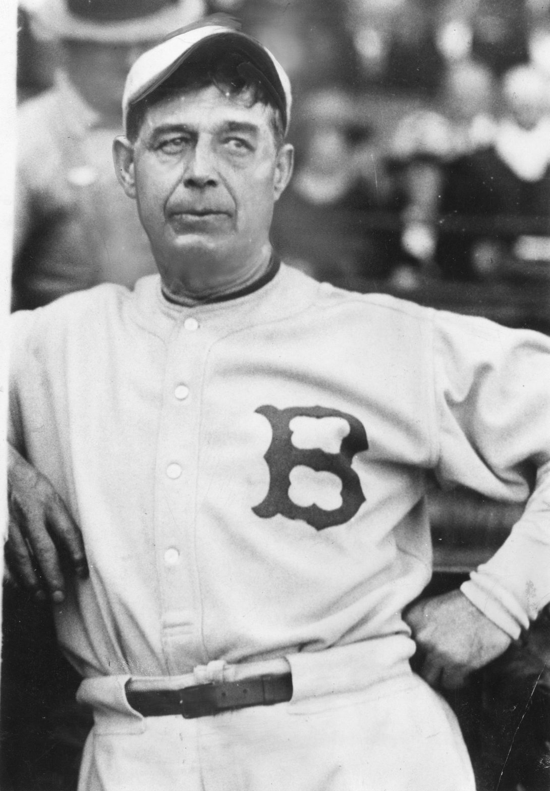Hall of Fame third baseman Jimmy Collins played in the first World Series for the Red Sox.