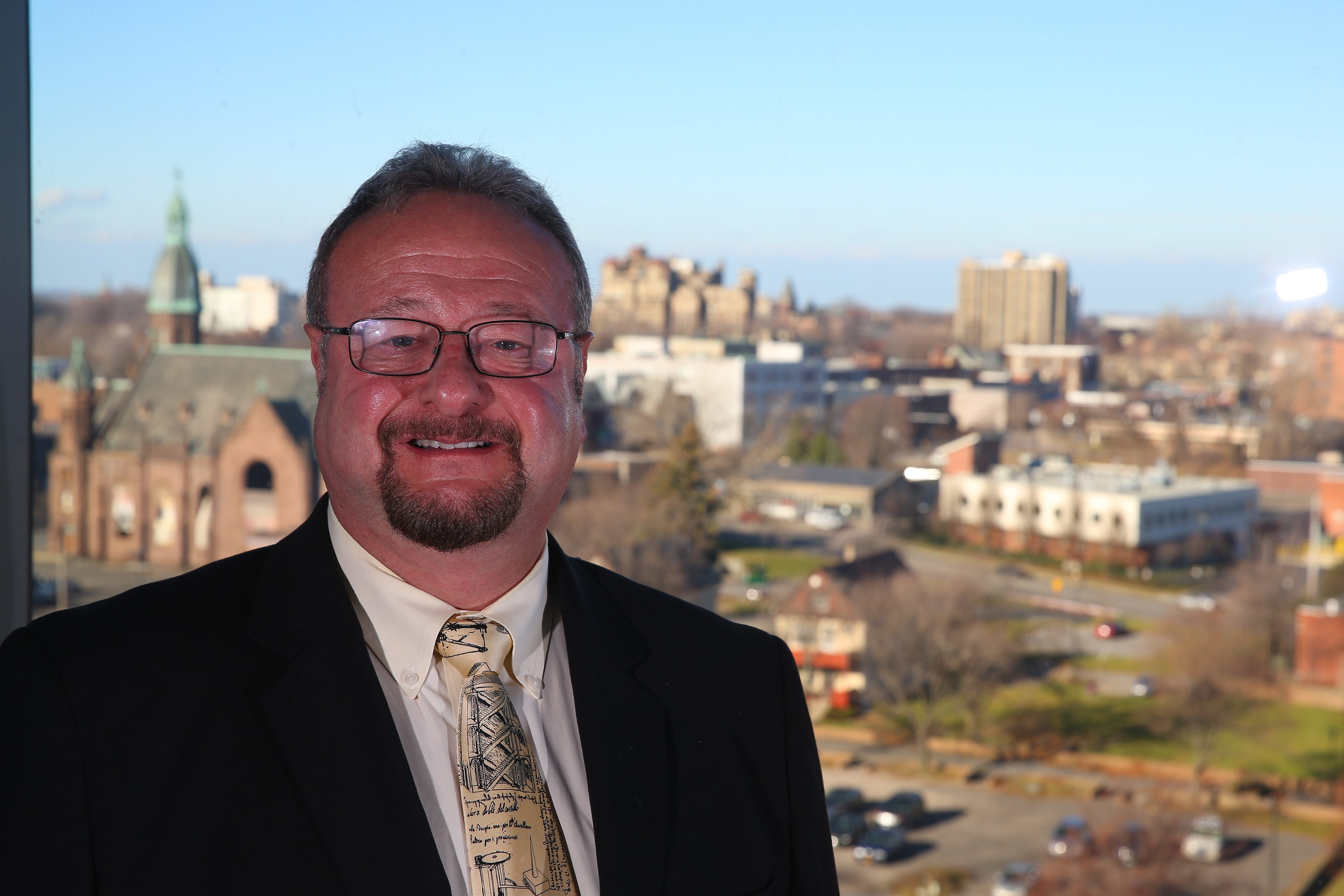 Prospectus story about healthcare and the new buffalo. Elkin is a physician/researcher in bioinformatics recruited to Buffalo who saw a huge opportunity here for growth in the sciences and the city as the medical campus developed at Gates Cardio Vascular in Buffalo, N.Y., on Friday,  Dec. 11, 2015.   (John Hickey/Buffalo News)