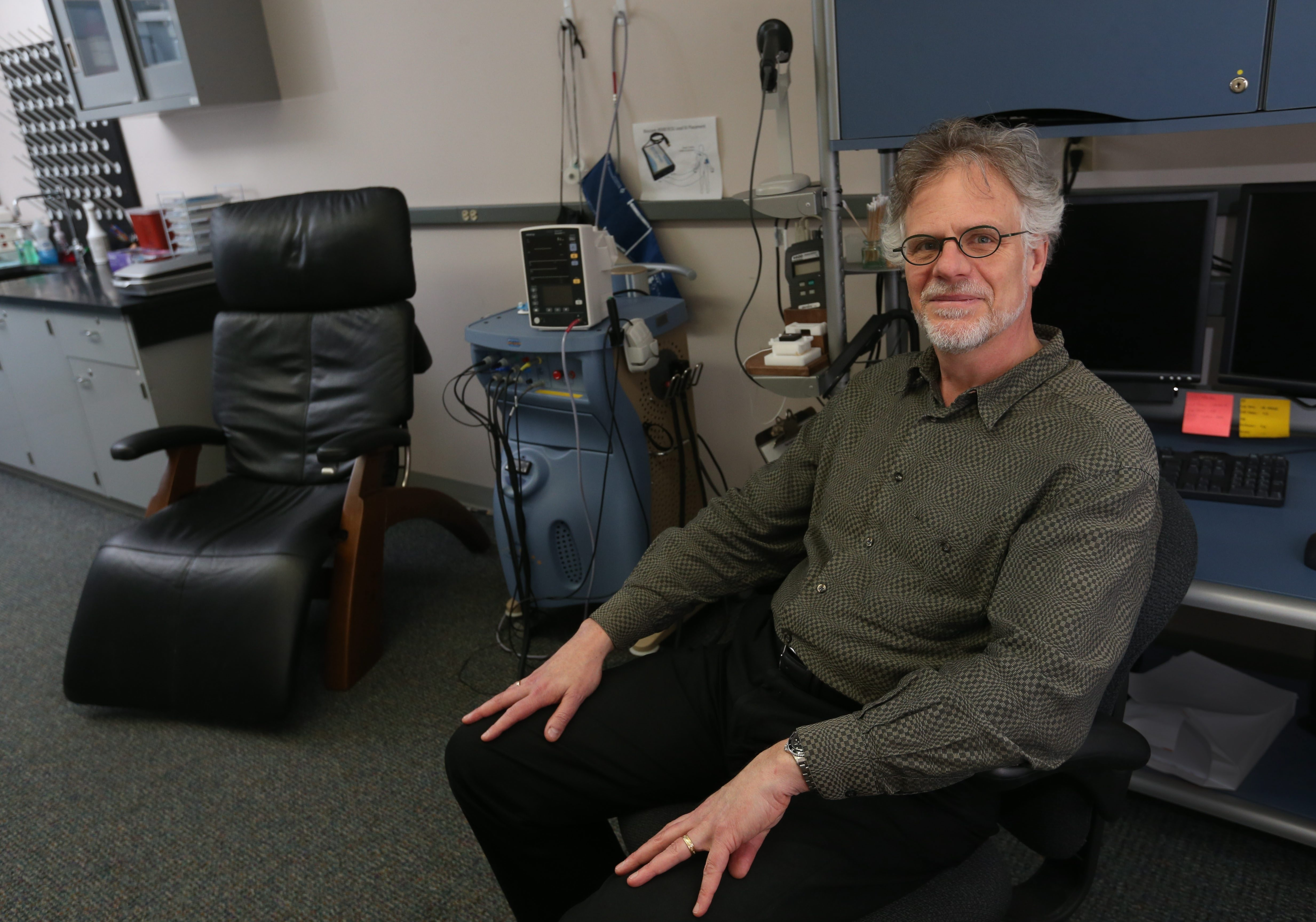 """Pain can be a symptom of disease. Pain also can be the primary disorder."" – Dr. Richard Ohrbach, associate professor, and director of the University at Buffalo Center for Orofacial Pain Research, which includes a neurosensory lab to assess how a research subject's pain system responds."