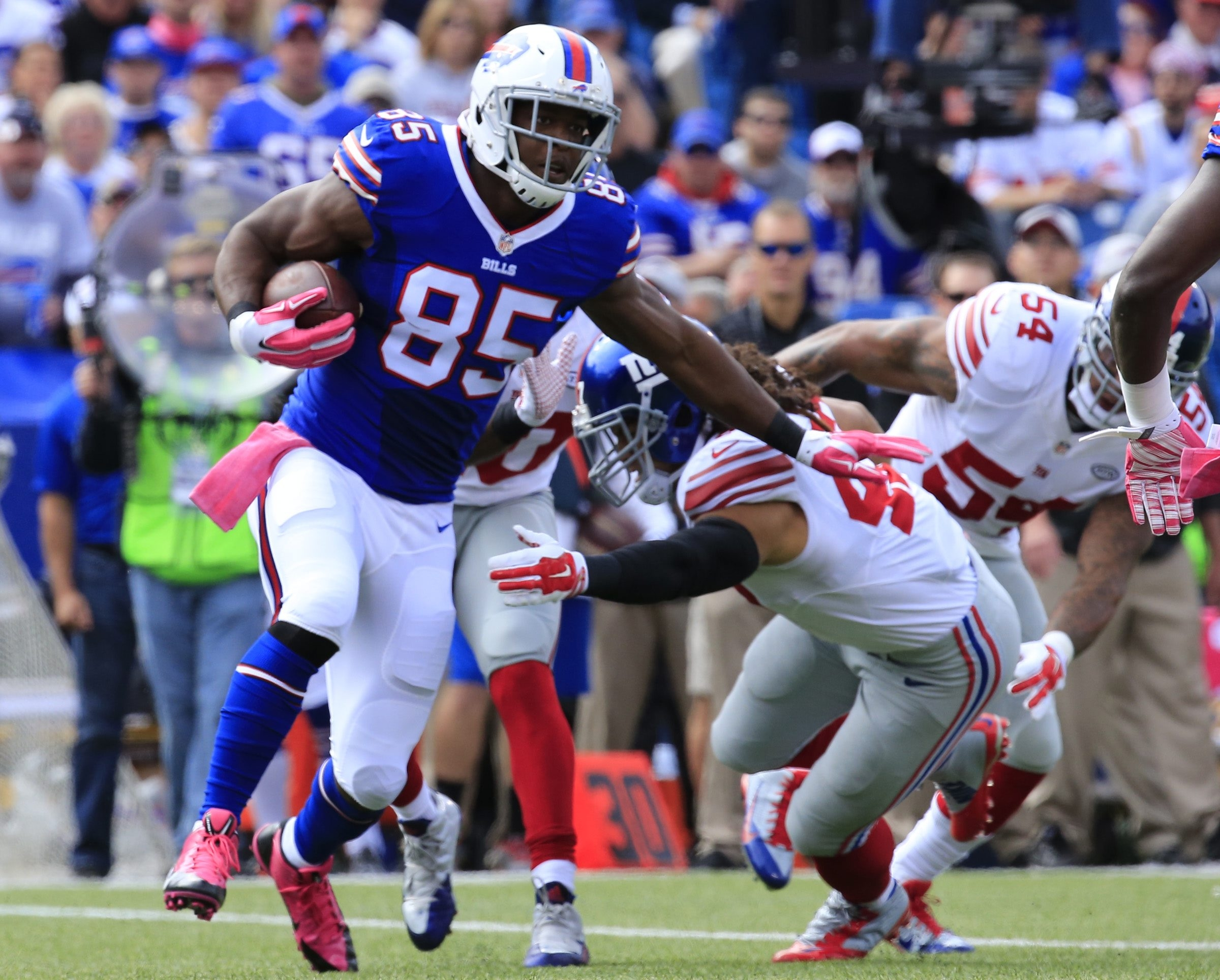 The Bills and General Manager Doug Whaley can save some salary cap money by re-working the huge contract of tight end Charles Clay.