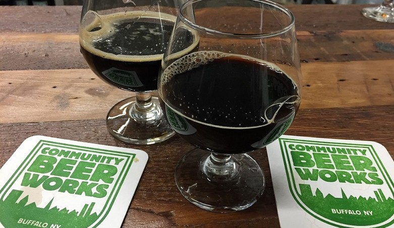 Dark winter beers from Community Beer Works. (Kevin Wise/Special to The News)