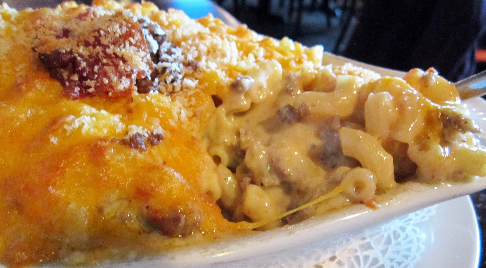"Money's menu reads ""And on the Eighth Day Mooney's Created Macaroni & Cheese."" (Photo Emeri Krawczyk)"