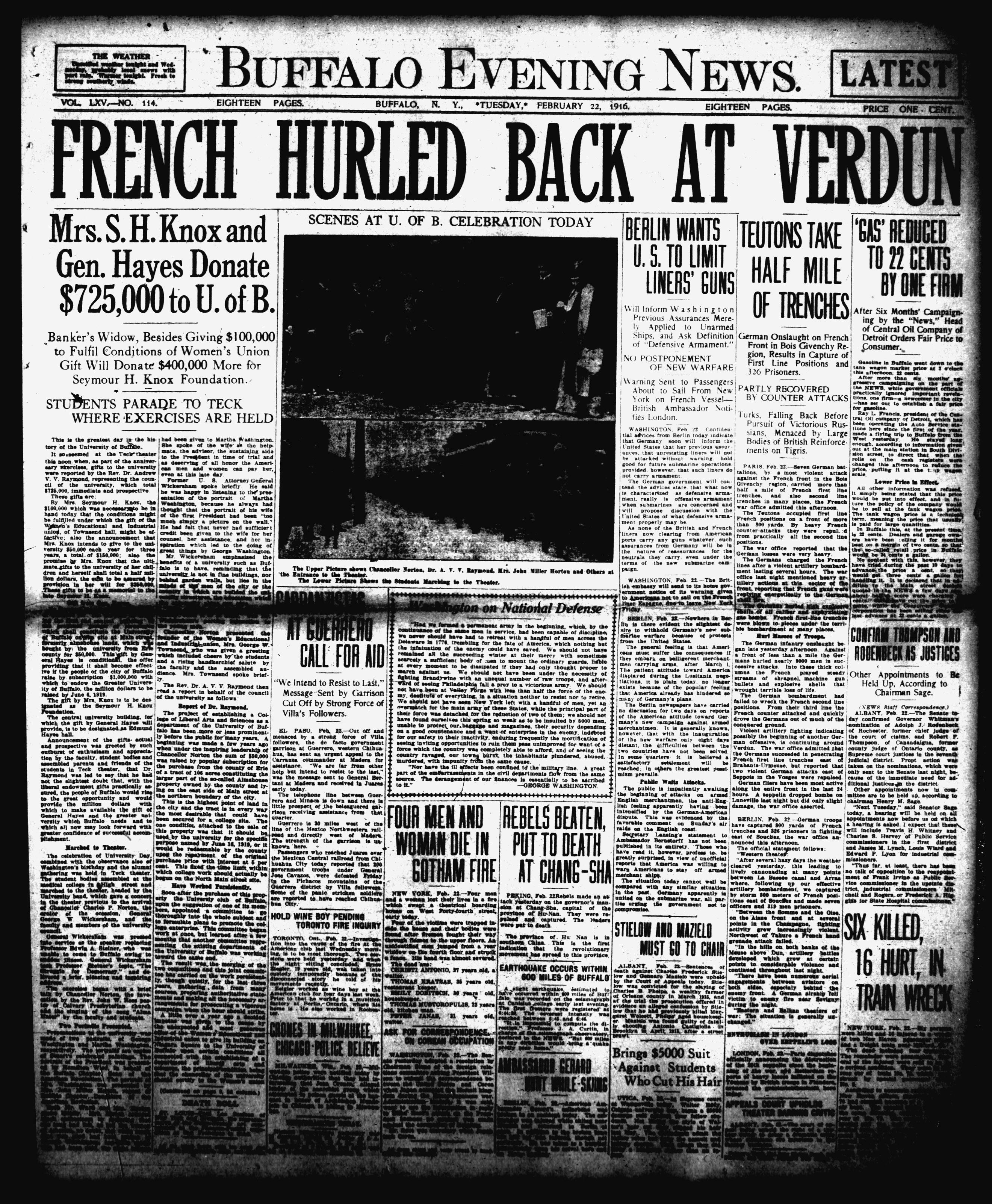 Feb 22 1916