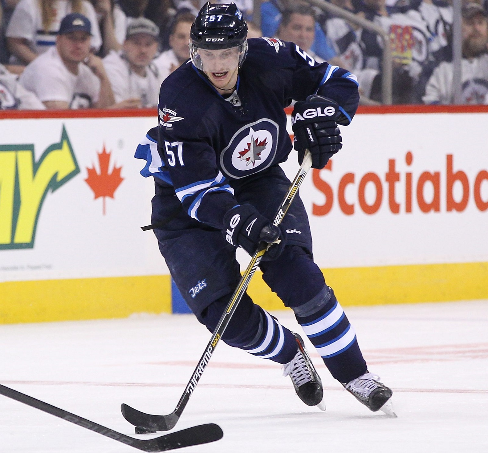 Former Sabre Tyler Myers has produced 21 points in 58 games and is a +3. (Getty Images)