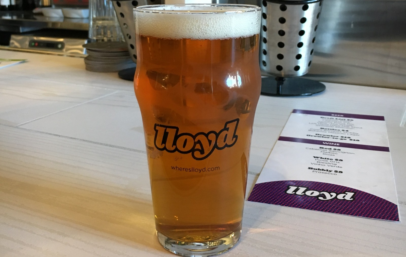 Lagunitas IPA at Lloyd Taco Factory on Hertel Avenue. (Michael Farrell/Special to The News)