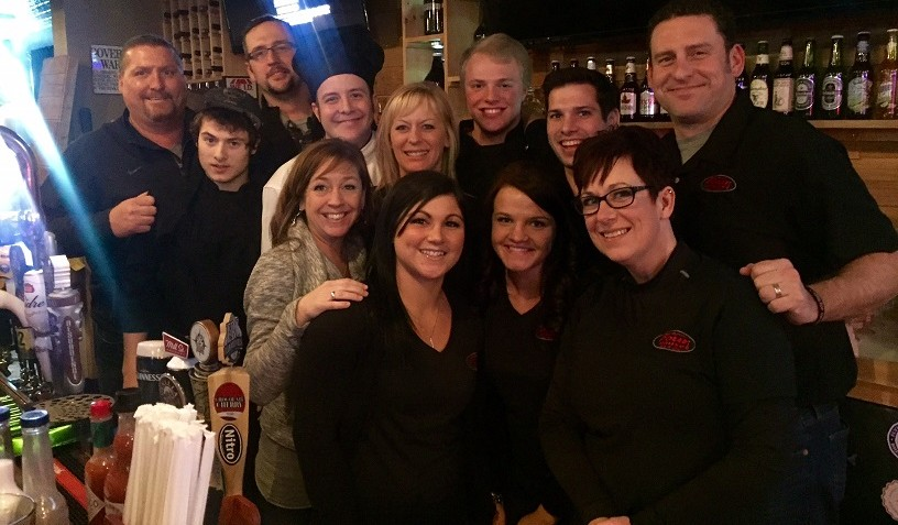 The staff from East Aurora Pour House poses for a photo. (Kevin Wise/Special to The News)