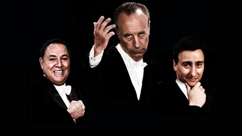 Richie Minervini (from left), Vic DiBitetto and Fred Rubio bring their comedy to North Tonawanda. (Courtesy of Syndicate Entertainment Marketing)
