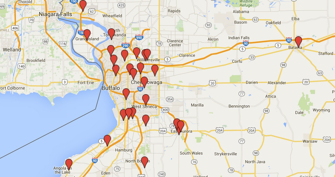 Use our Google Map to find your Buffalo fish fry each Friday.