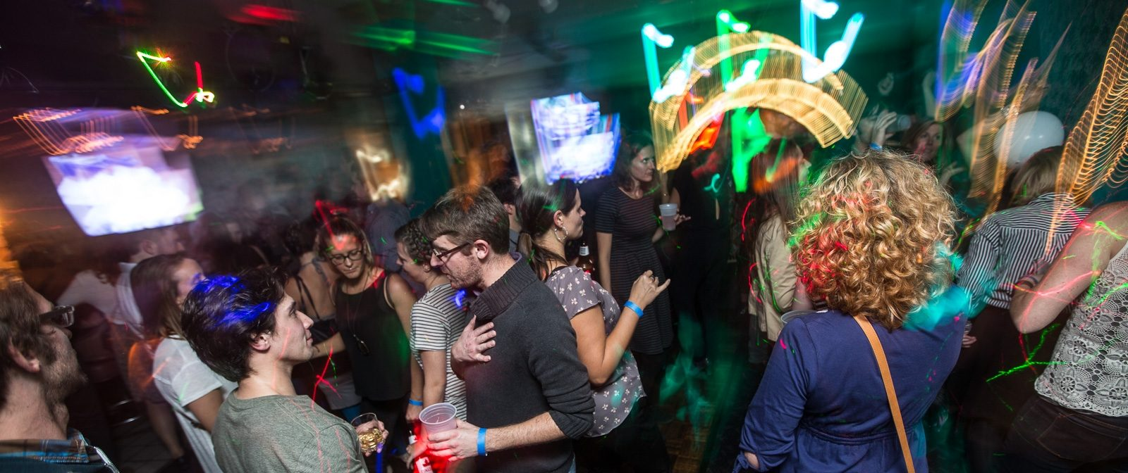 Several people dance the night away at Milkie's on Elmwood. (Chuck Alaimo/Special to The News)