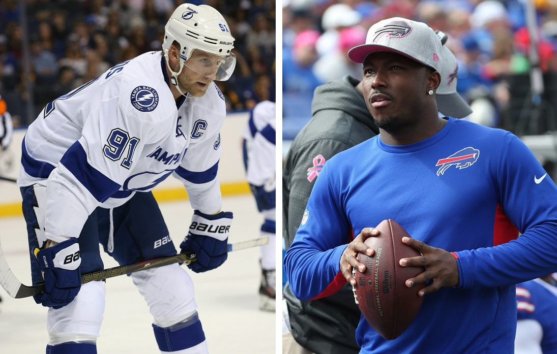 Should the Sabres be interested in Steven Stamkos? How will LeSean McCoy's off-field trouble unfold? These topics and more were covered on Sports Talk Sunday. (Sharon Cantillon/James P. McCoy - Buffalo News file photos)
