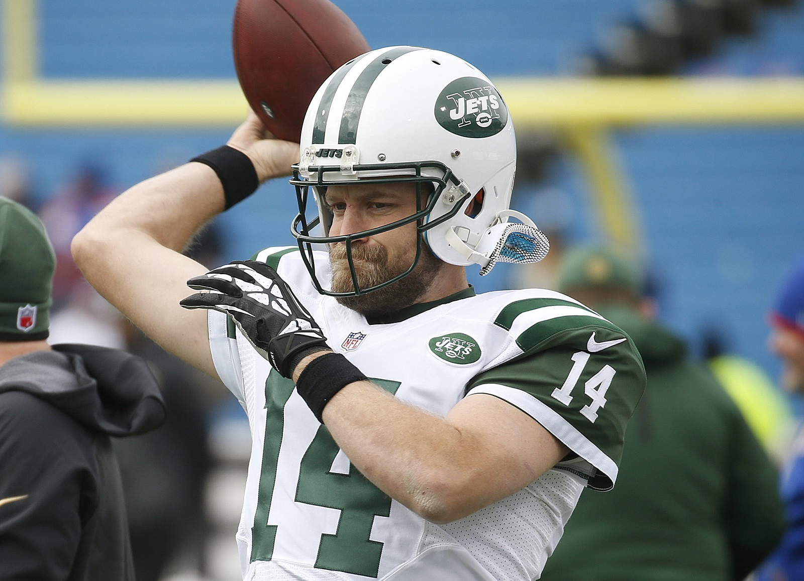 Ryan Fitzpatrick struggled with the Jets last season, but could be a backup quarterback option for the Bills. (Robert Kirkham/Buffalo News file photo)