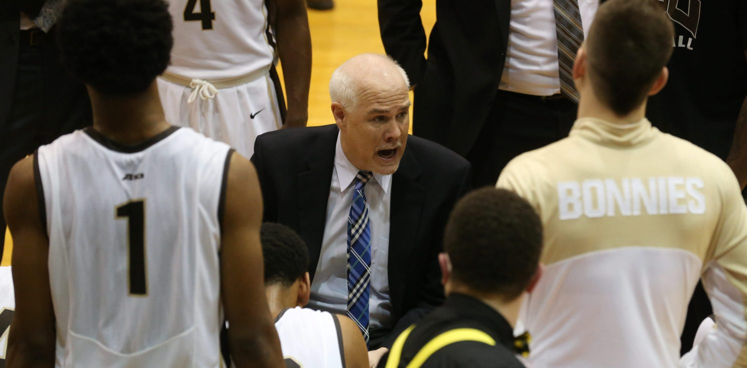 St. Bonaventure men's basketball coach Mark Schmidt   (Sharon Cantillon/News file photo)