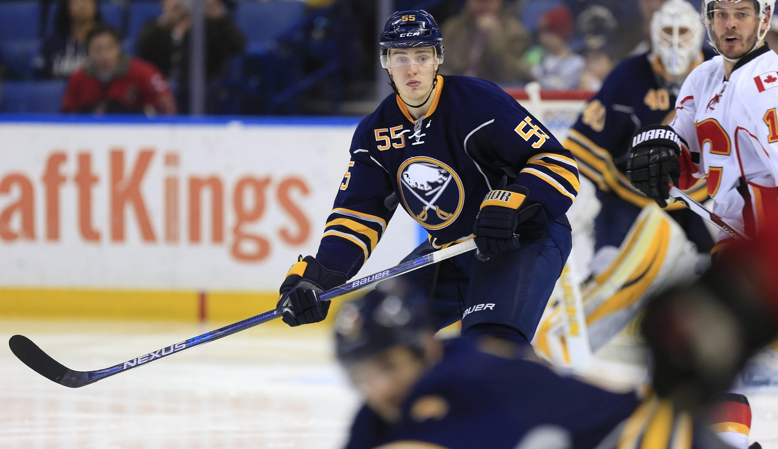 Rasmus Ristolainen remains without a deal. (Harry Scull Jr./Buffalo News)