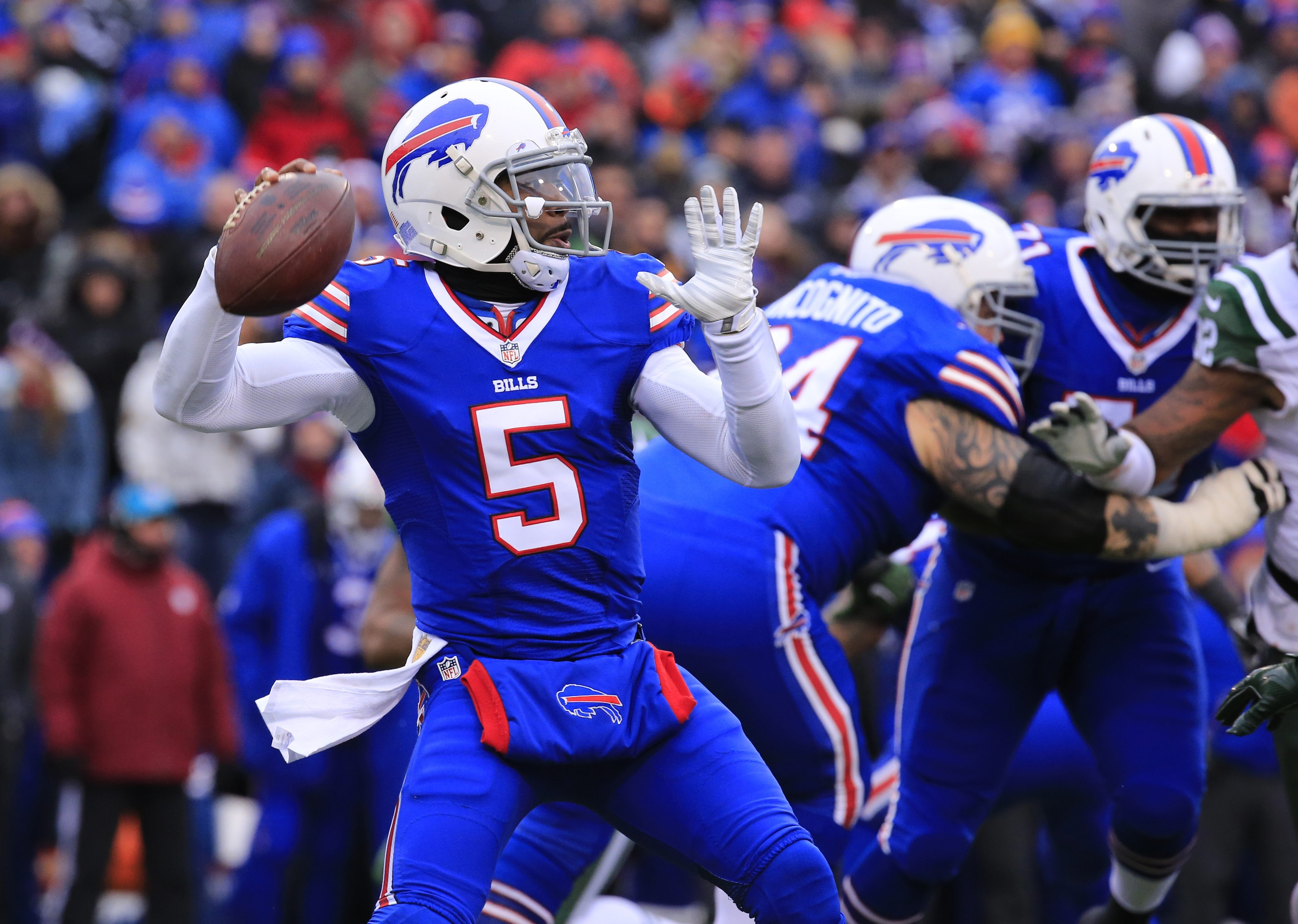At $1 million in 2016, Tyrod Taylor is a bargain at quarterback for the Bills, but he has just received added  ammunition to seek a big raise when it's time to negotiate a new contract.