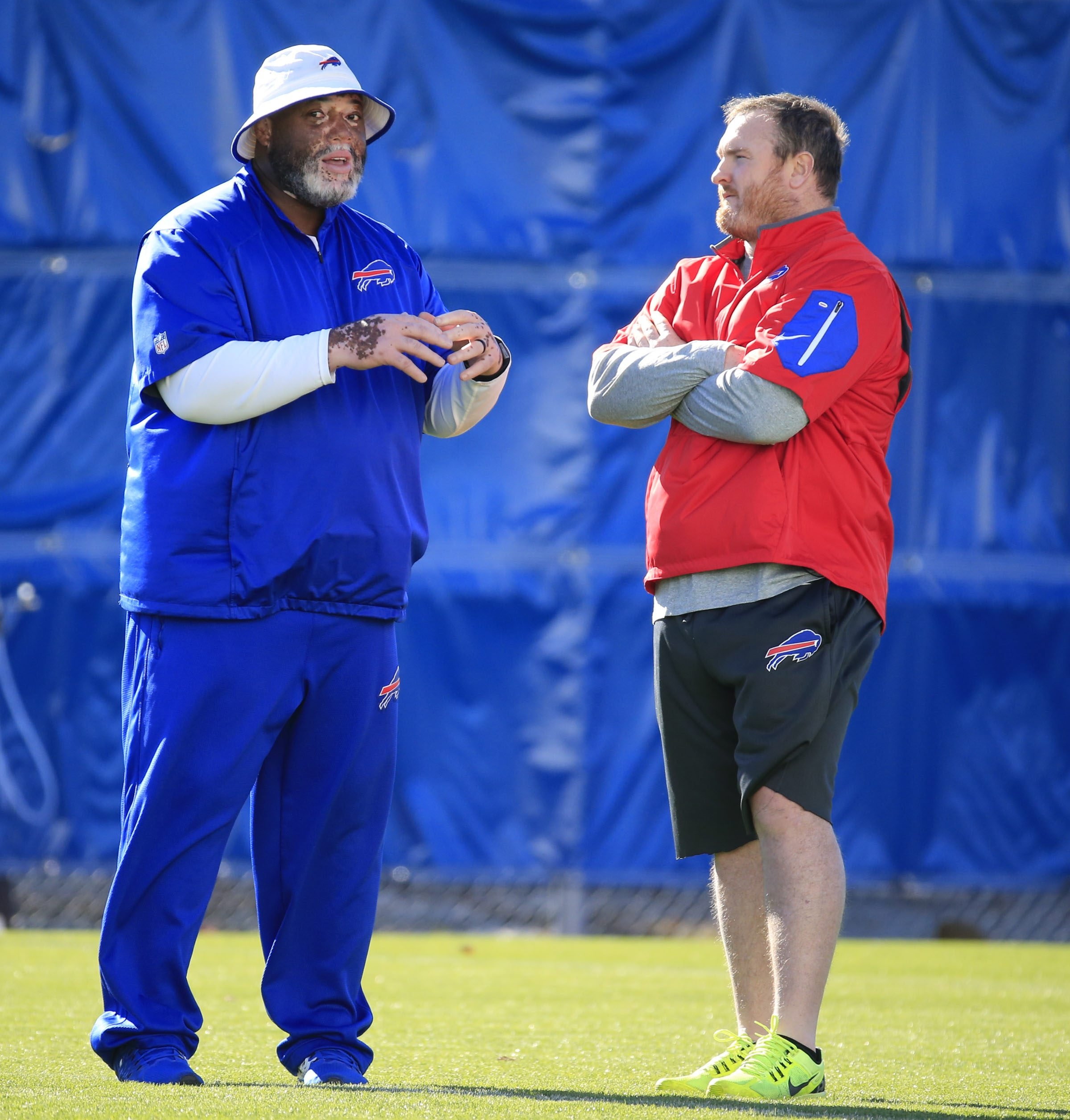 Disappointing production from the front four may be the reason the Bills released defensive line coach Karl Dunbar.