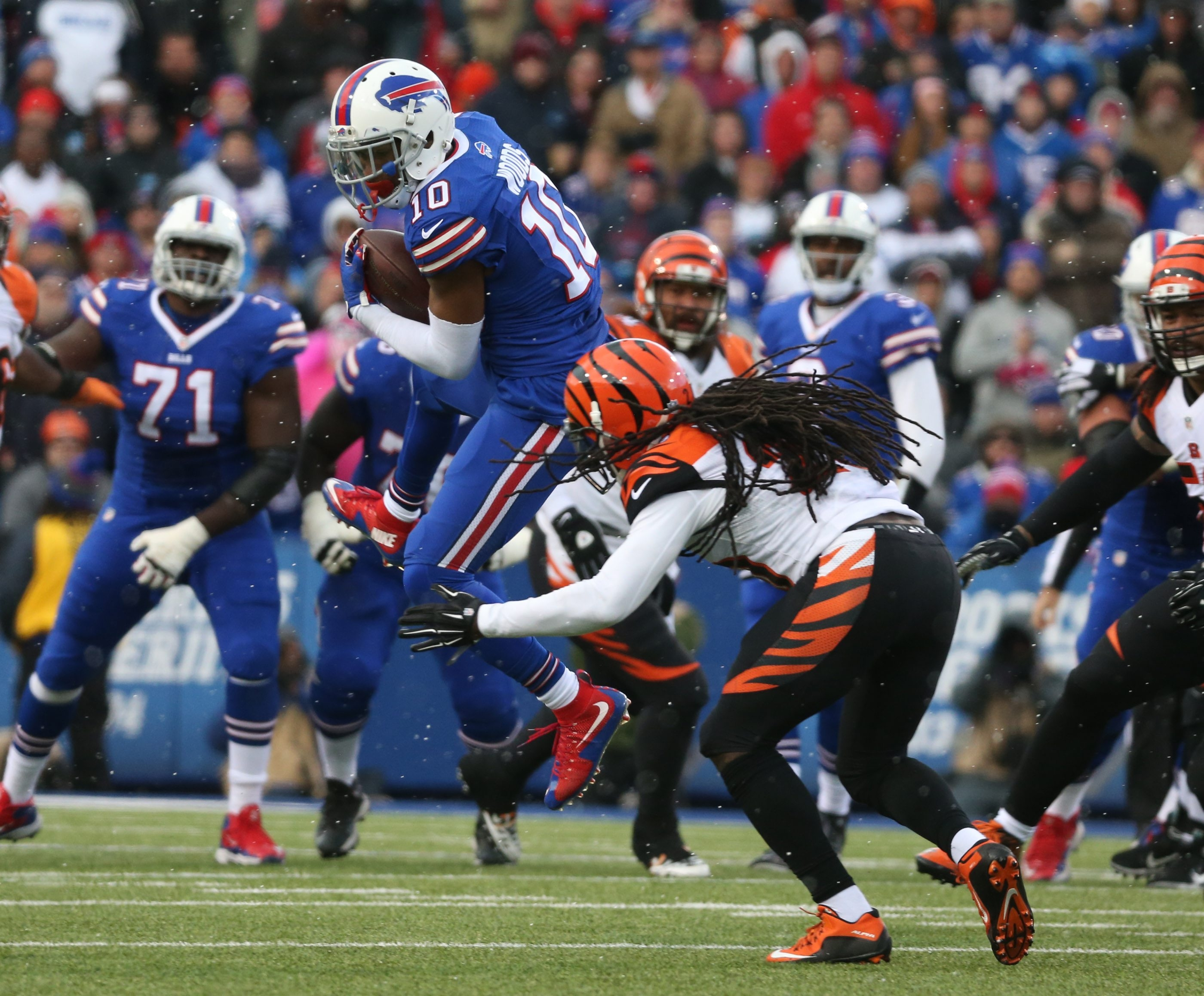 Robert Woods had averaged 51 receptions in his three seasons with the Bills.