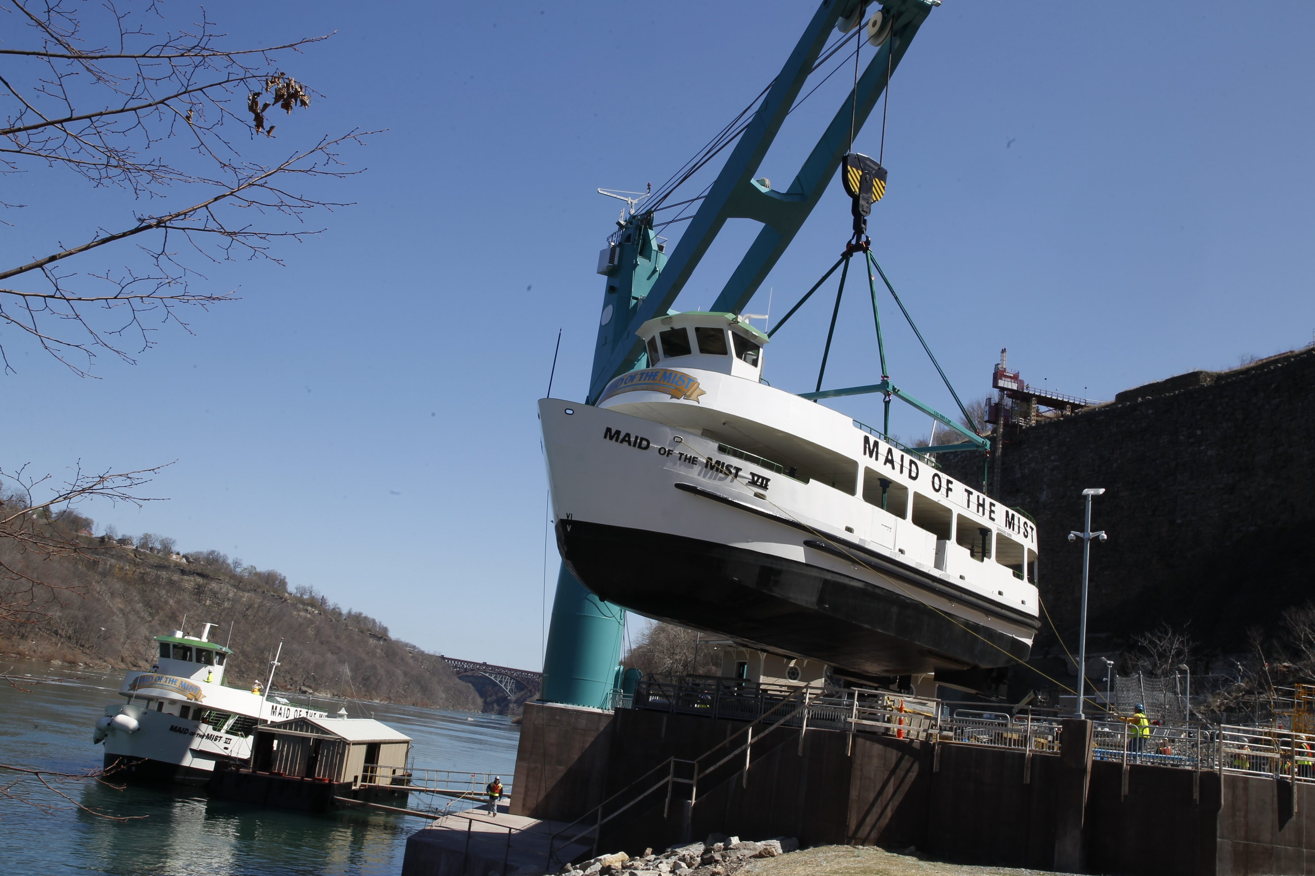Maid of the Mist  VII is put in the Lower Niagara River  at  the drydocks built in the Niagara Gorge.  (John Hickey /News file photo)