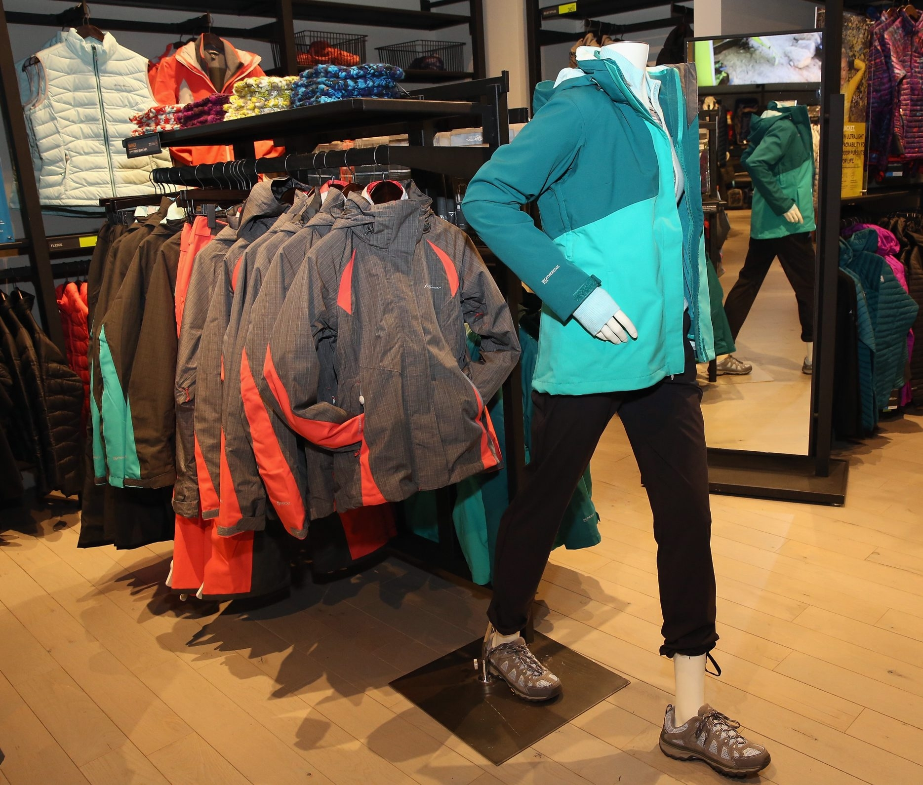 General view of atmosphere at the Eddie Bauer store in New York City.  The company is opening a new store at the Galleria Mall in Cheektowaga. (Getty Images)