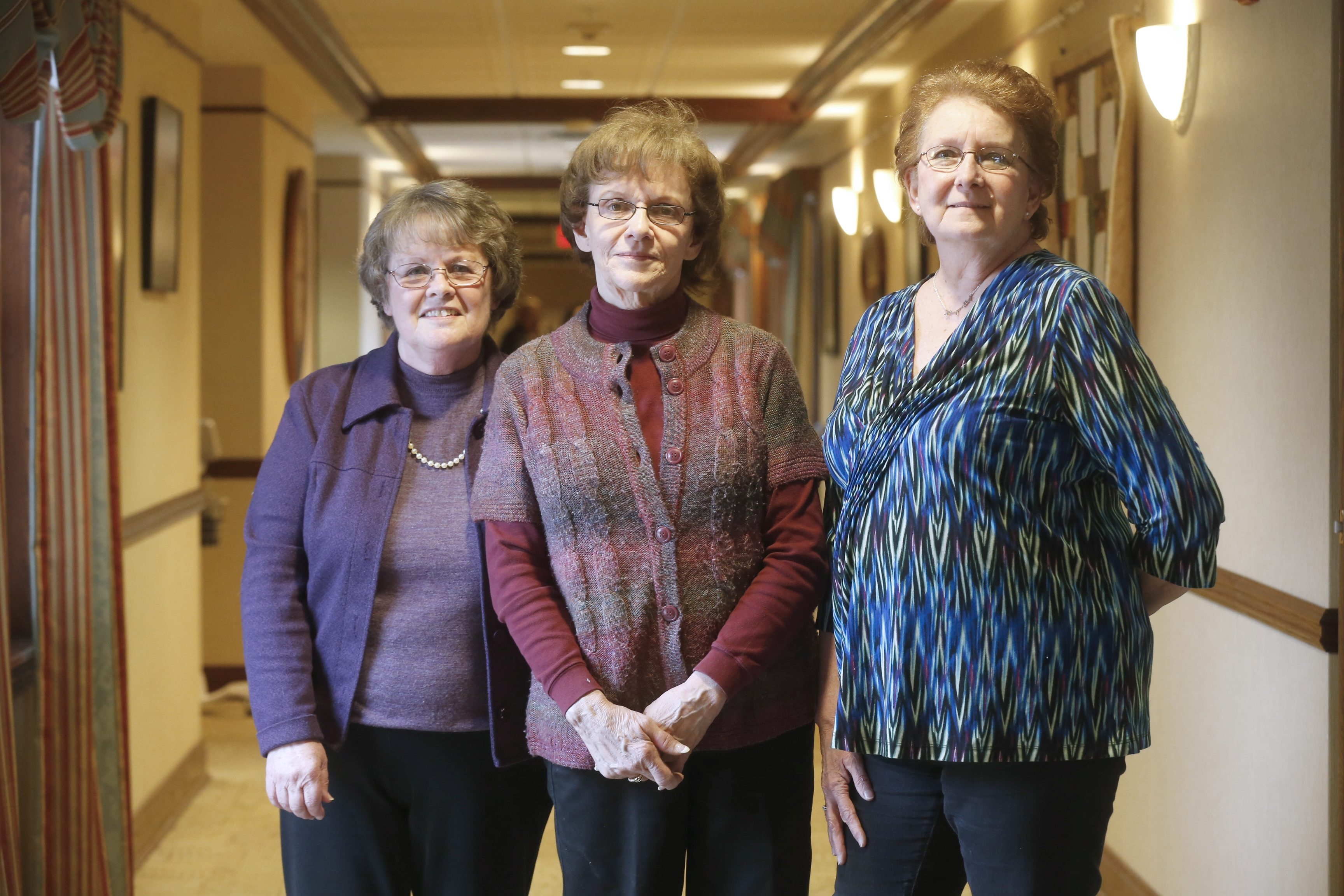 Niagara Hospice volunteers, from right, Bernadette Ford, Barbara Reed and Julie Goldbach at the Hospice House, in Lockport. Hospice will hold spring training for new volunteers from 5 to 9 p.m. April 26.
