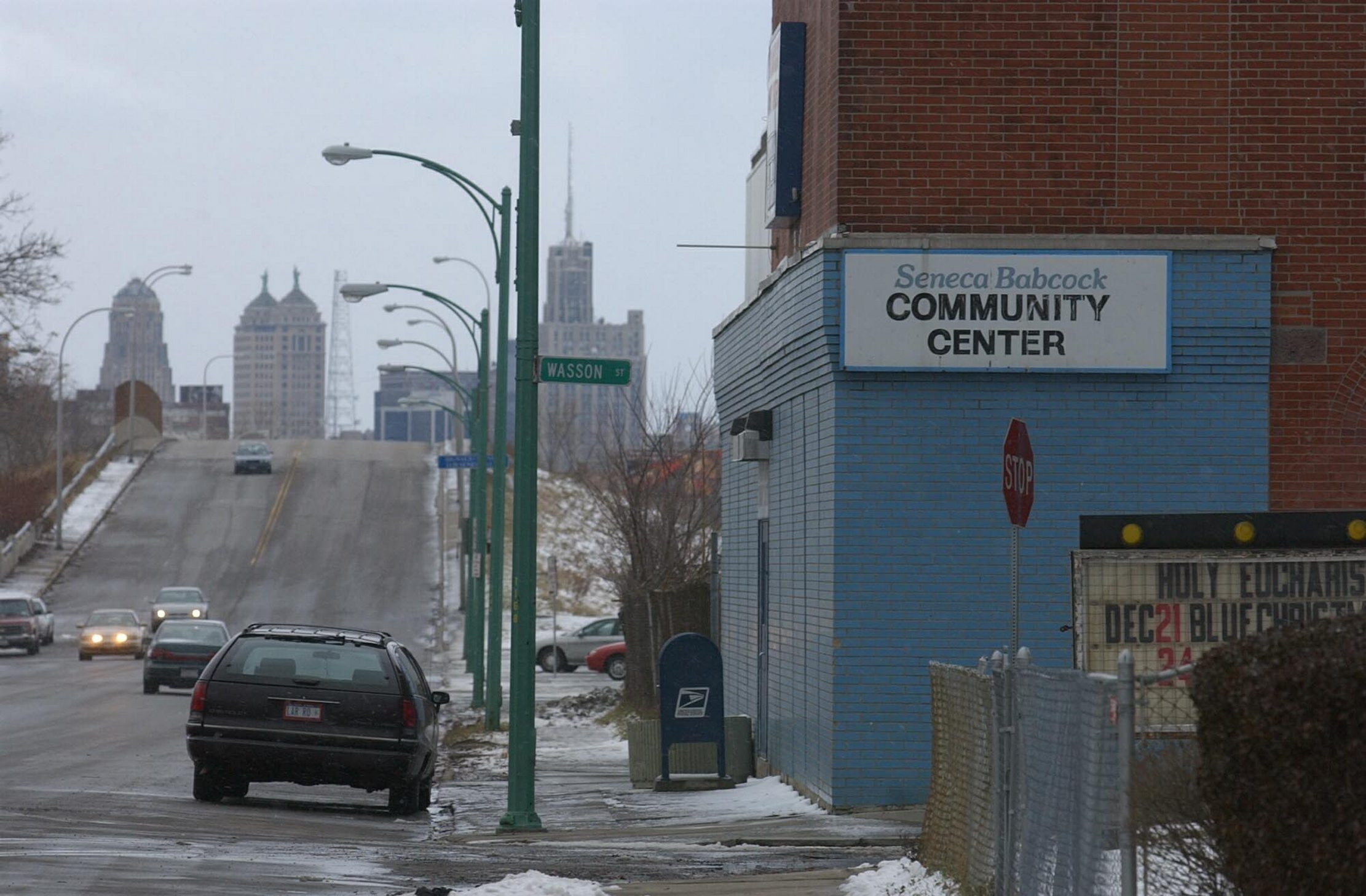 A new $6.1 million Seneca-Babcock Community Center will be built at 82 Harrison St., a quarter-mile from its current location at 1168 Seneca St., pictured here. (Buffalo News file photo)