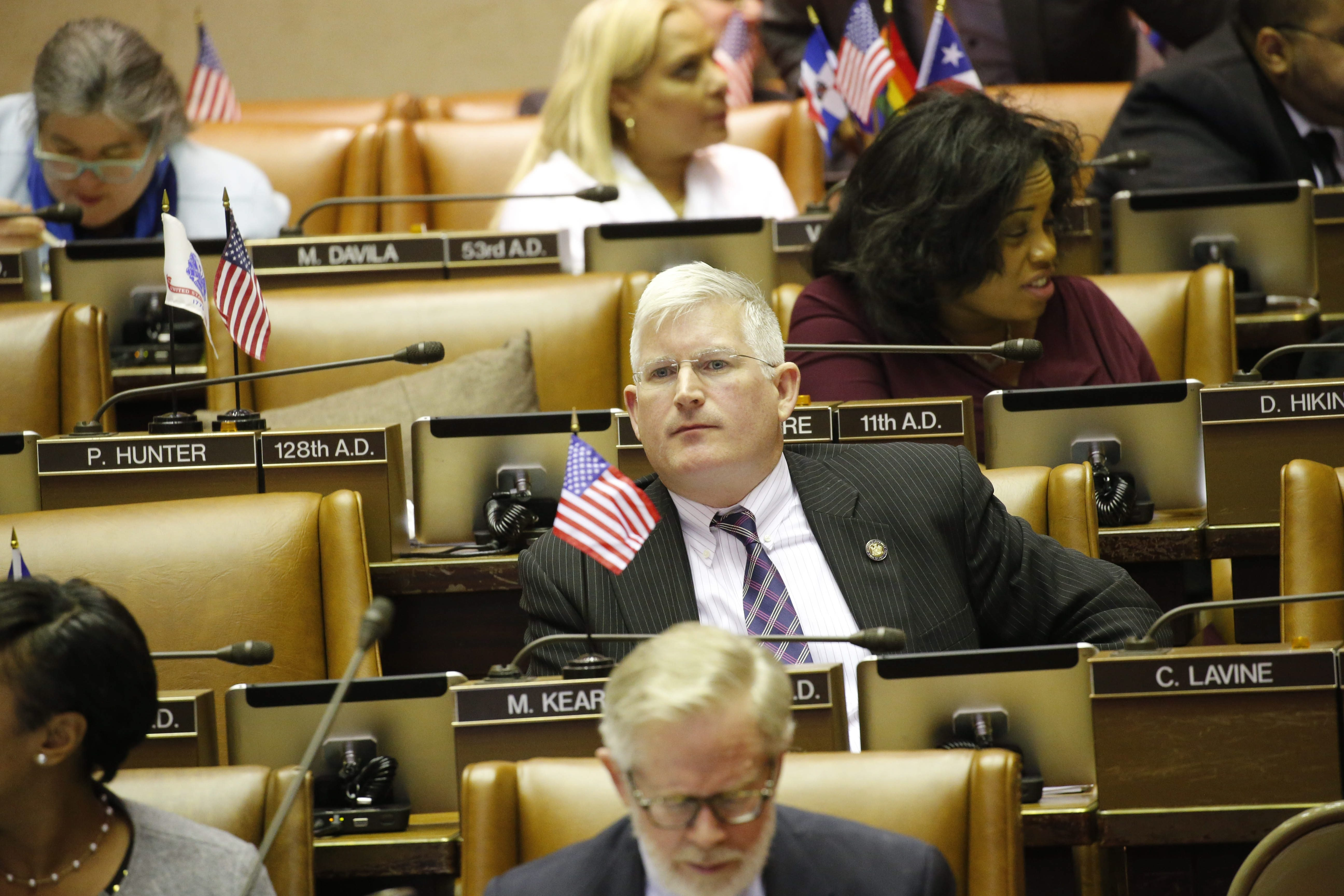 Assemblyman Michael Kearns as the New York State Assembly holds session at the Capitol in Albany, Tuesday, Jan. 12, 2016.  (Derek Gee/Buffalo News)