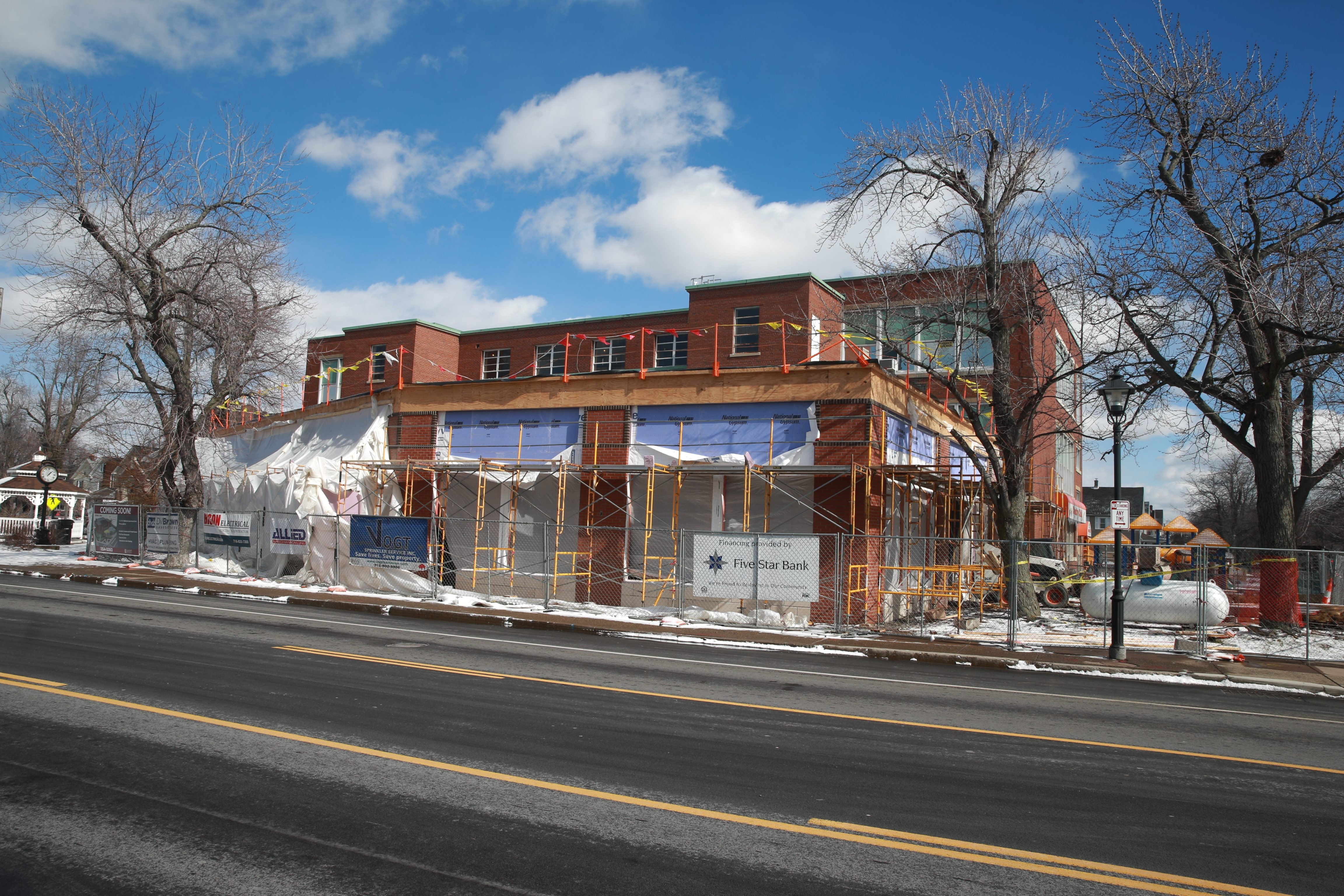 SPoT Coffee is going into the addition being built on the former George Washington Elementary School at 1 Delaware Road, Kenmore. The school is being converted into a mixed-use building including 21 luxury apartments. (John Hickey/Buffalo News)