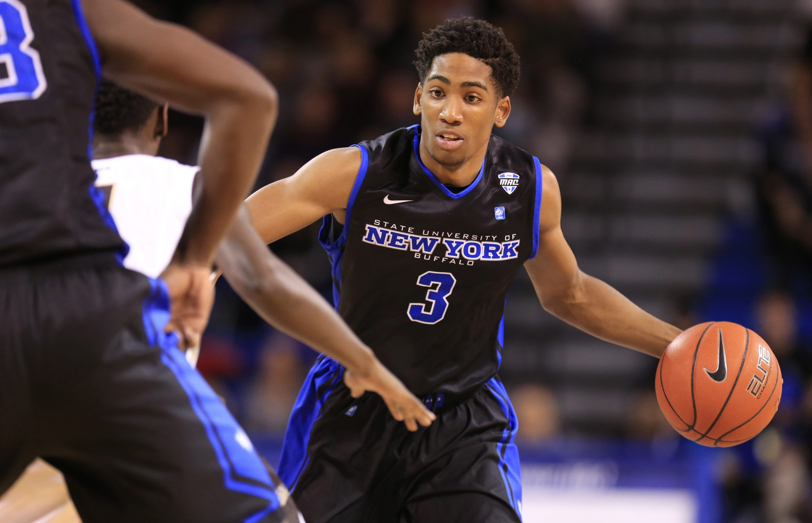 CJ Massinburg averages 11.3 points and 4.1 rebounds for UB and has scored in double figures in 11 of his past 14 games.