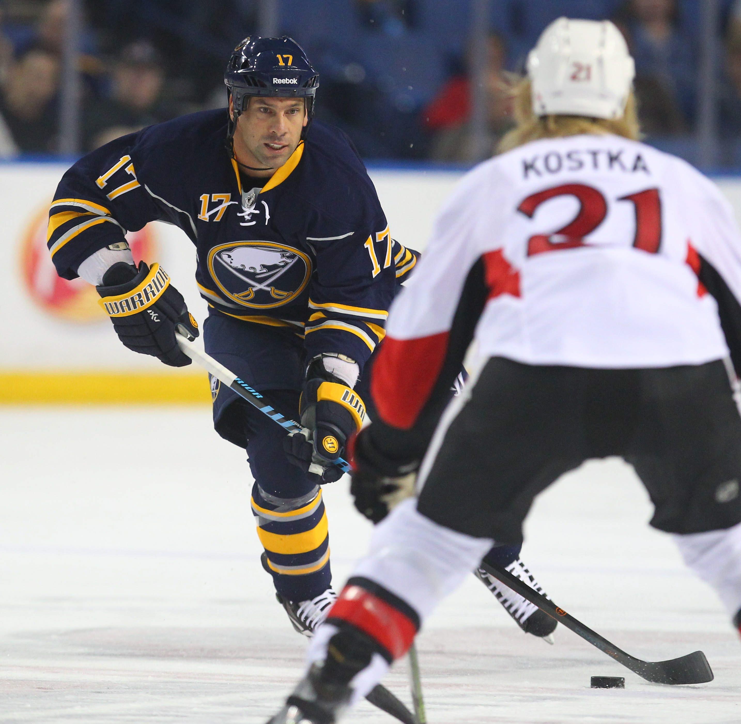 Sabres veteran forward David Legwand loves imparting hockey wisdom to his younger teammates such as Jack Eichel and Sam Reinhart.