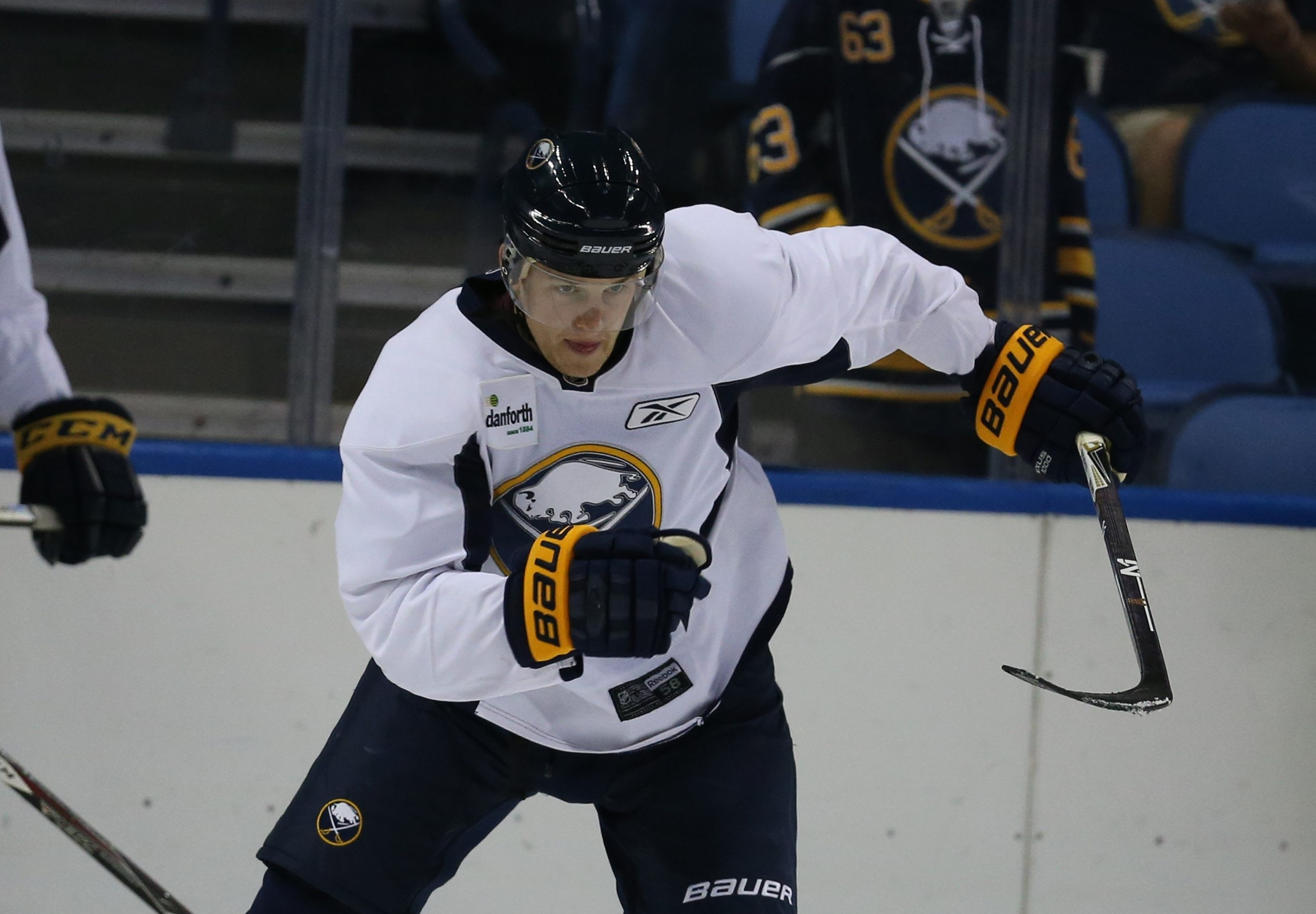 Hudson Fasching will practice for the first time with the Sabres later this week.