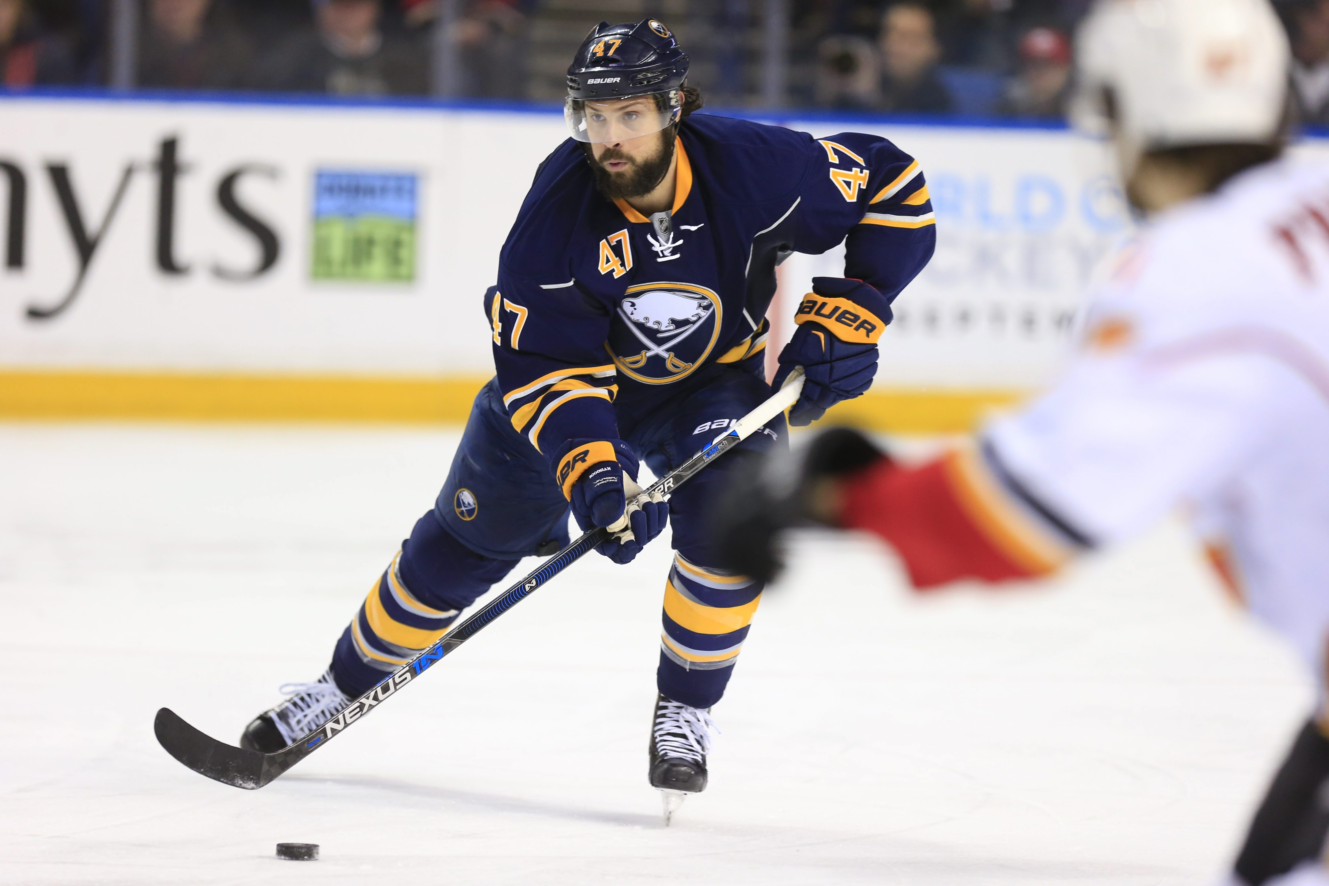 Playing with more confidence, defenseman Zach Bogosian has been an offensive threat lately for the Sabres.
