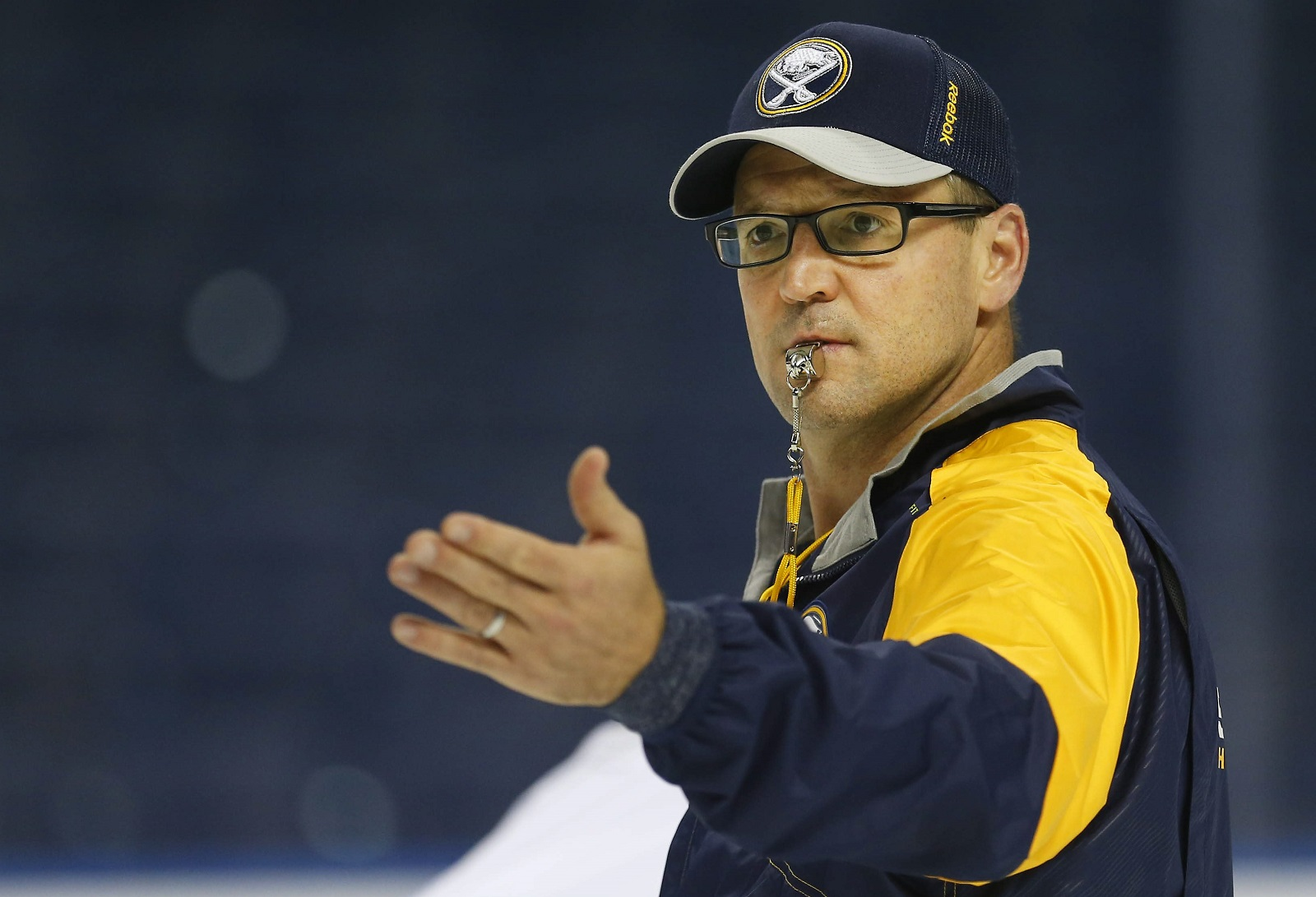Mike Harrington and Bucky Gleason have slightly different views of Dan Bylsma's job as Sabres coach. (Mark Mulville/Buffalo News file photo)