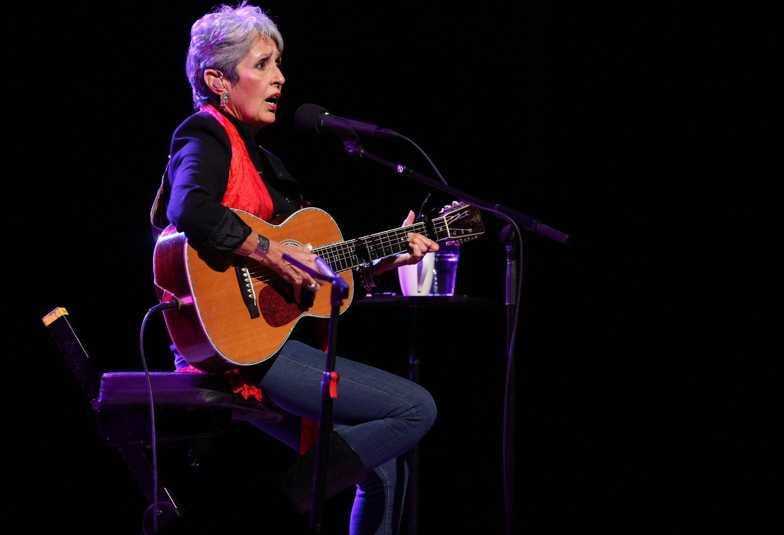 Joan Baez, pictured performing in Kleinhans in 2011, performed March 26 in Asbury Hall. (Buffalo News file photo)