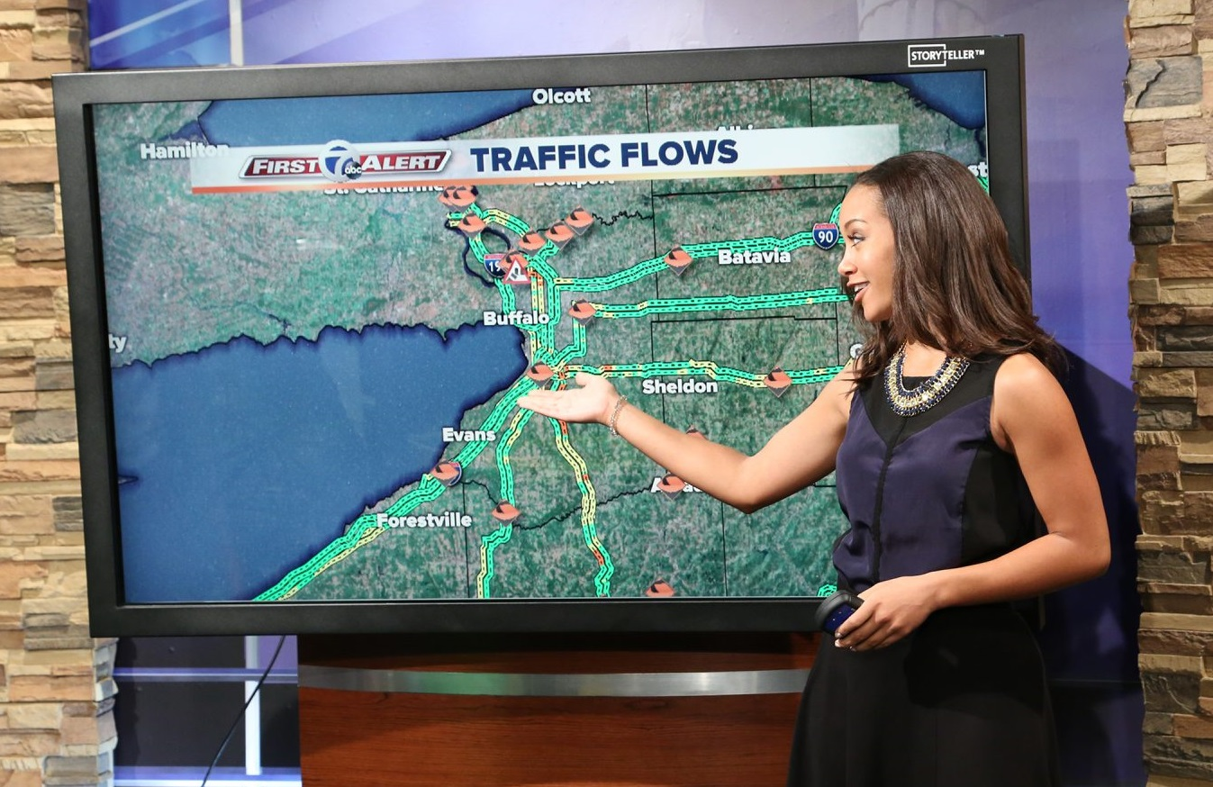 Wiley began as a traffic reporter on WKBW before taking on a role a features reporter.