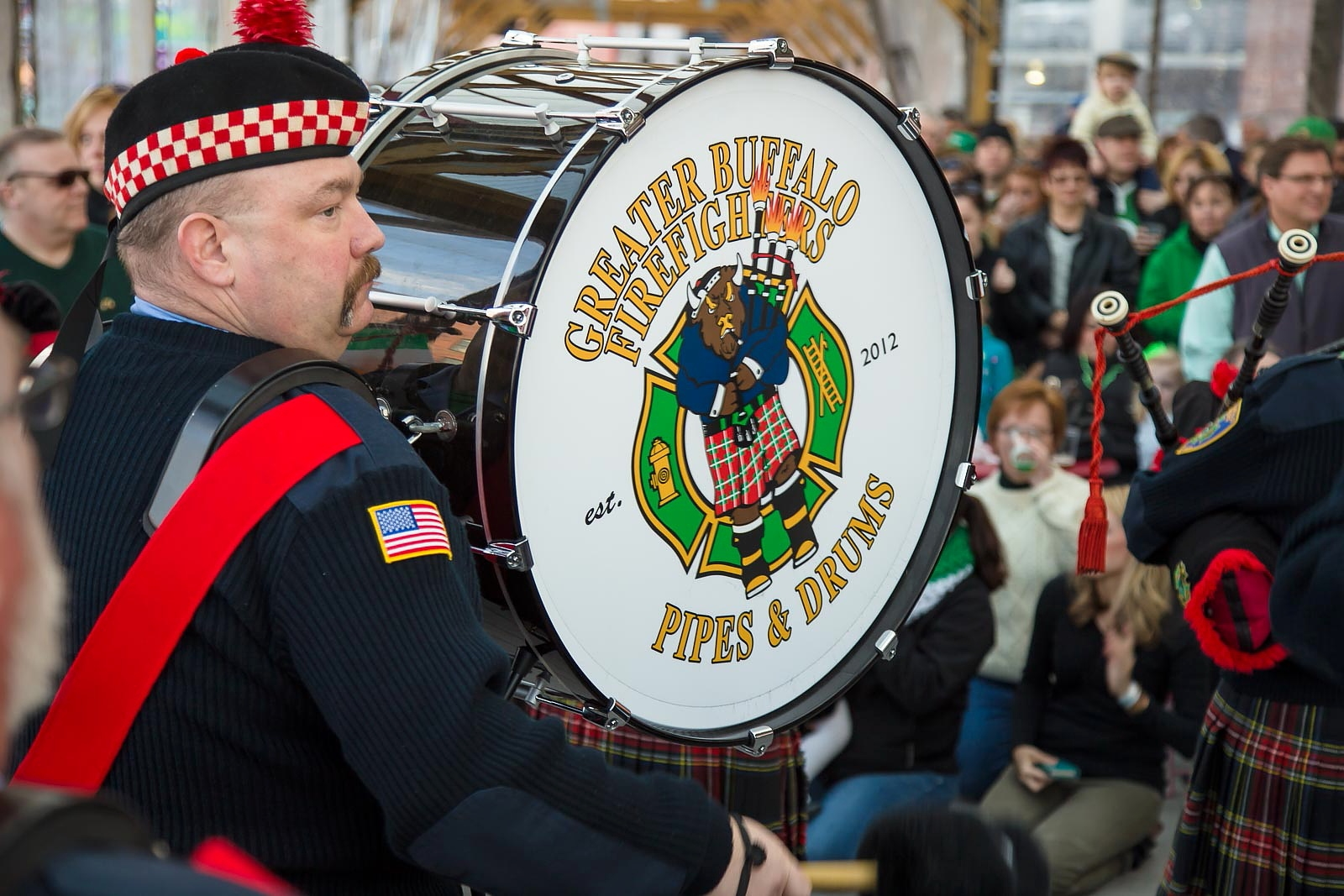 The Greater Buffalo Firefighters Pipes and Drum will again be part of Live at O'Larkin. (Don Nieman/Special to The News)