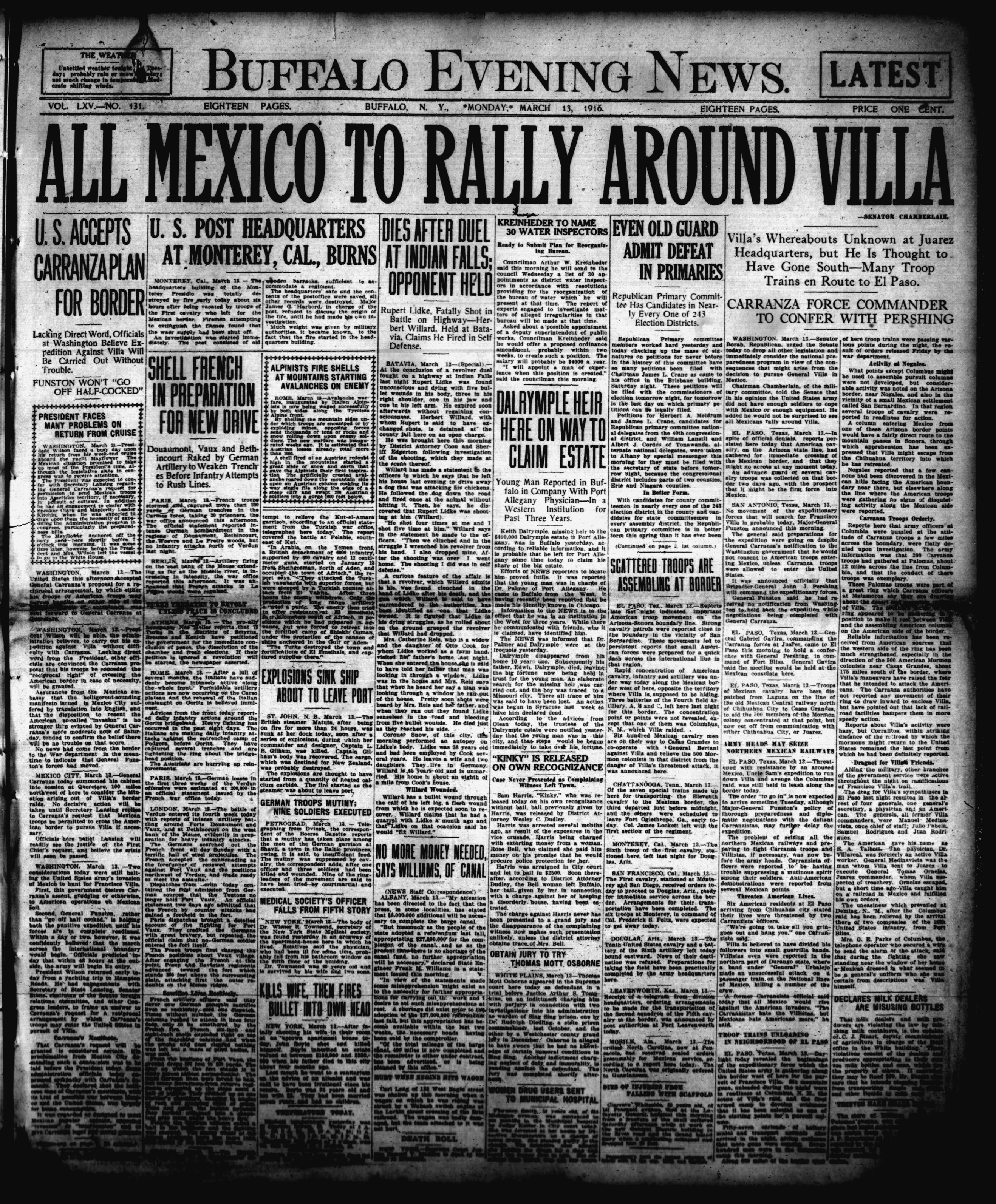 March 13 1916