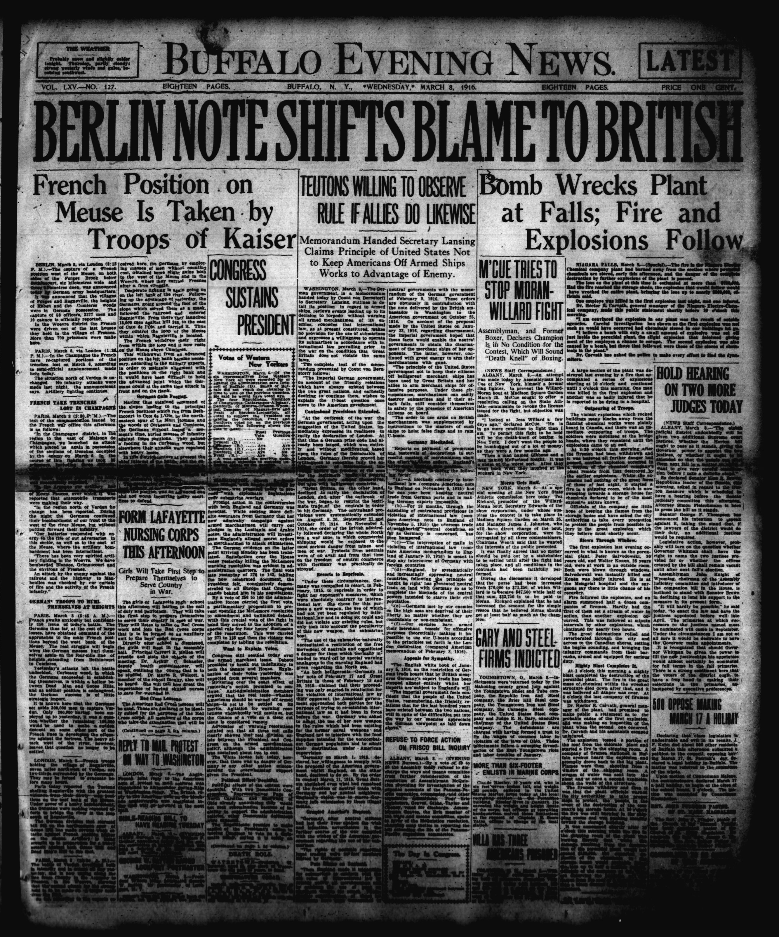 March 8 1916
