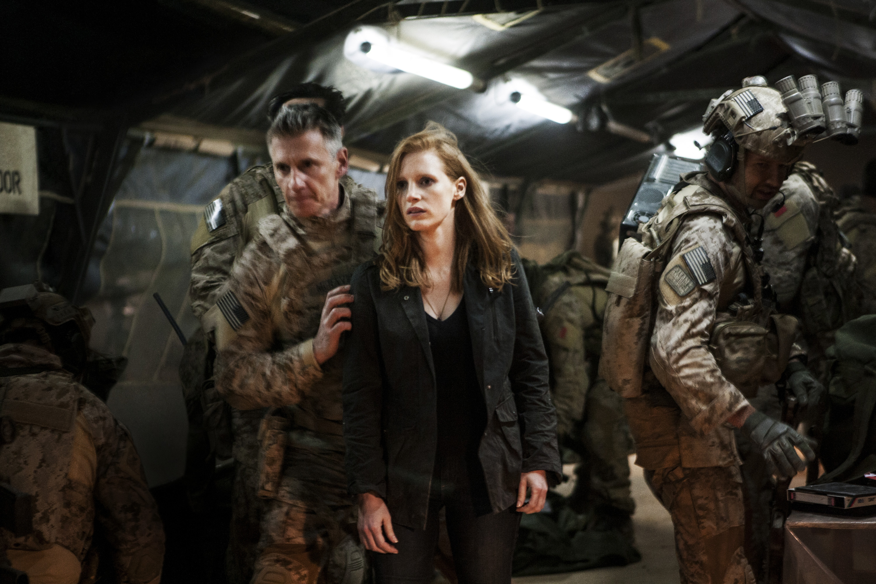 Jessica Chastain and Christopher Stanley star in 'Zero Dark Thirty.'