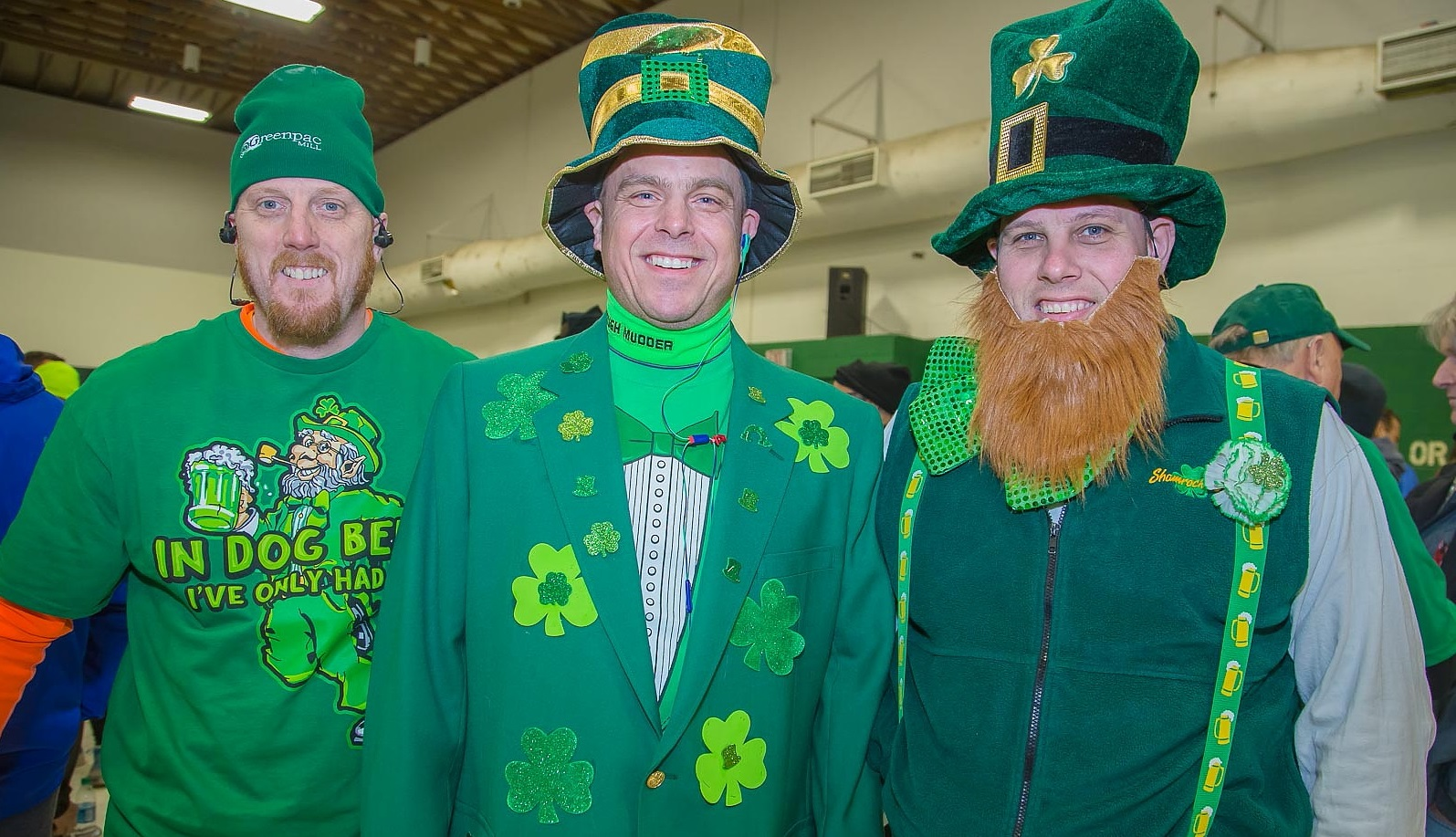 Runners wear different apparel for the Shamrock Run compared to other races. (Photo by Don Nieman / Special to The News)
