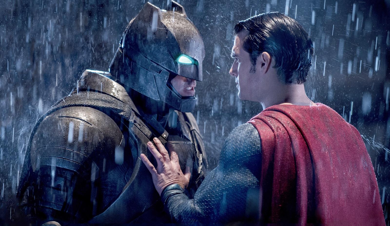 Ben Affleck as Batman and Henry Cavill as Superman in 'Batman v Superman: Dawn of Justice.' (Clay Enos, Warner Bros. Pictures)