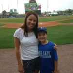 Kelly and Cooper Naab enjoyed last season's first Buffalo Bisons peanut reduced game.