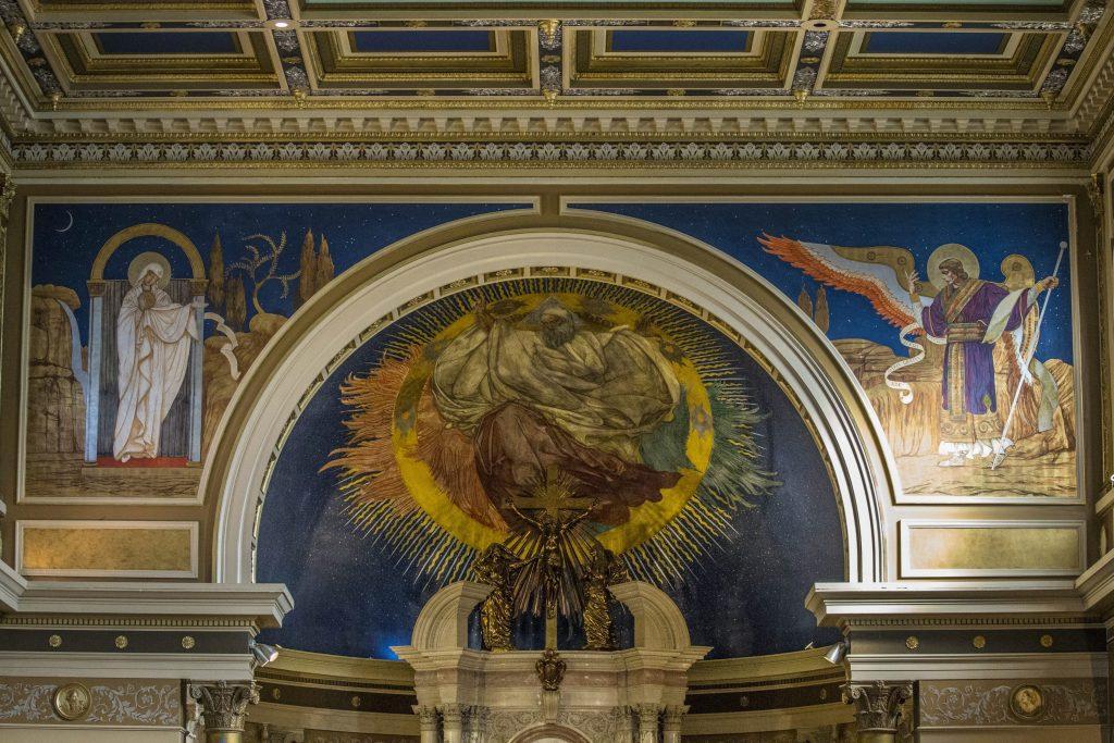 Murals by renowned Polish artist Jan Rosen adorn St. Luke's Mission of Mercy in Buffalo, Thursday, March 17, 2016. (Derek Gee/Buffalo News)