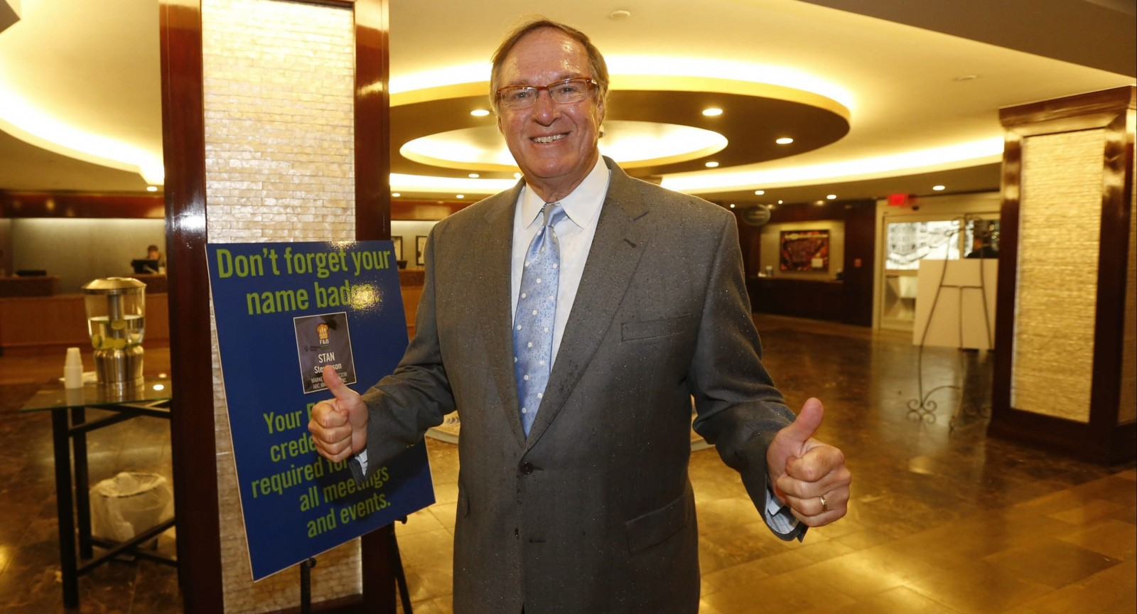 Former Buffalo mayor Tony Masiello, shown here in the the lobby of the Hyatt in Buffalo for a recent Hillary Clinton   fundraiser, will be the star of a new play about his life in the Road Less Traveled Theatre. (Robert Kirkham/Buffalo News)