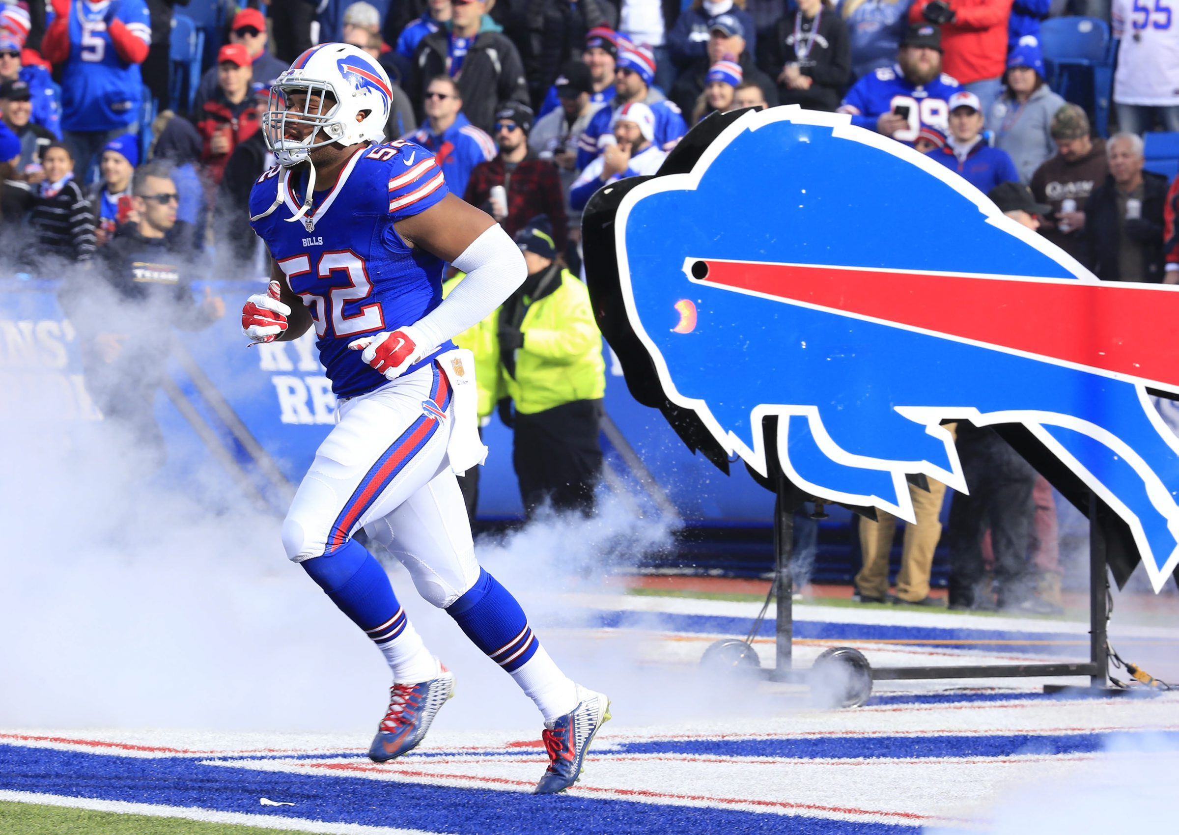 Preston Brown has been saying the Bills' defense will be simpler next season. (Harry Scull Jr./Buffalo News)
