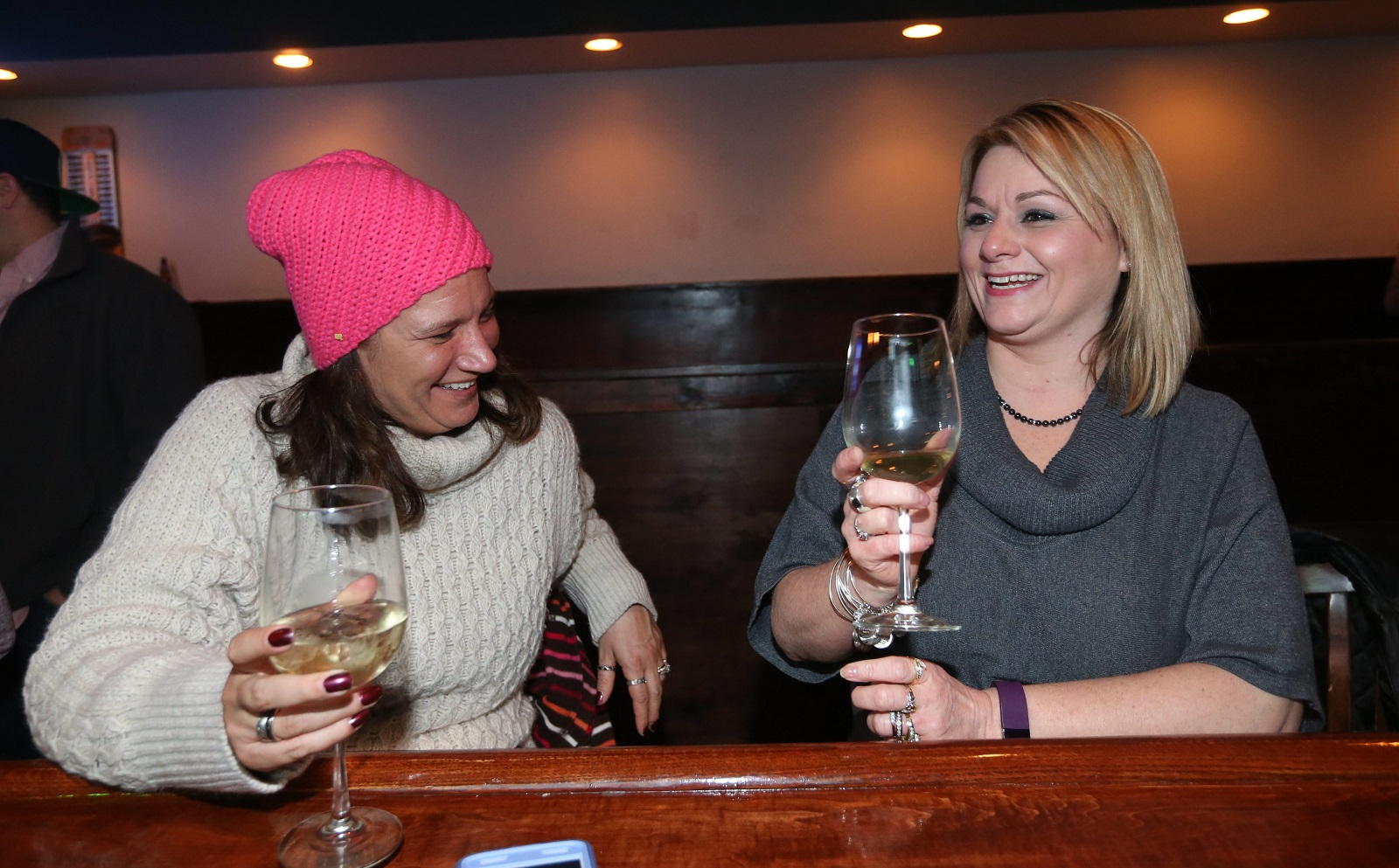 Rene Granda and Cheryl Doxbeck of South Buffalo hang out in Doc Sullivan's. (Sharon Cantillon/Buffalo News)