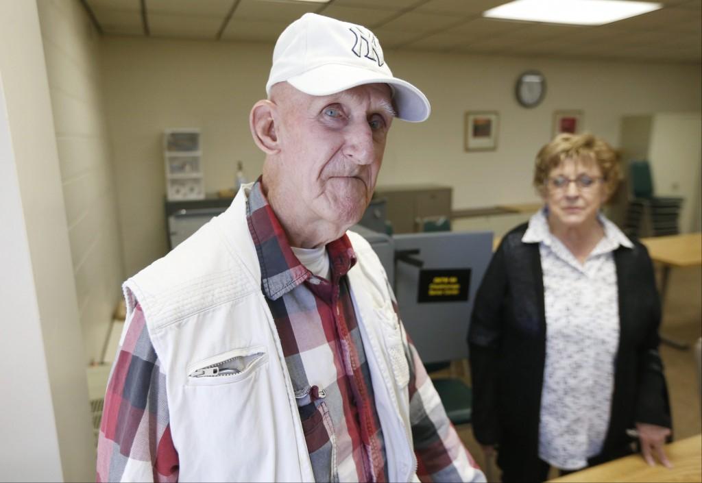 Republican Donald Frank voting for Ted Cruz today at Cheektowaga Senior Center on Tuesday, April 19, 2016. (Robert Kirkham/Buffalo News)