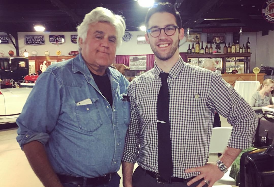 Comedian Jay Leno, left, hangs out with The Buffalo News cartoonist Adam Zyglis.