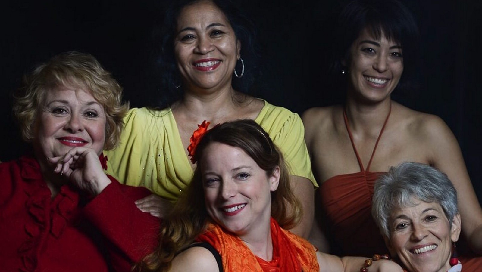 "Clockwise from left, Mary Kate O'Connell, Sandra Gilliam, Sara Kow-Falcone, Christina Rausa and Eizabeth Oddy take turns reading monologues in O'Connell & Company's ""Women on Fire."""