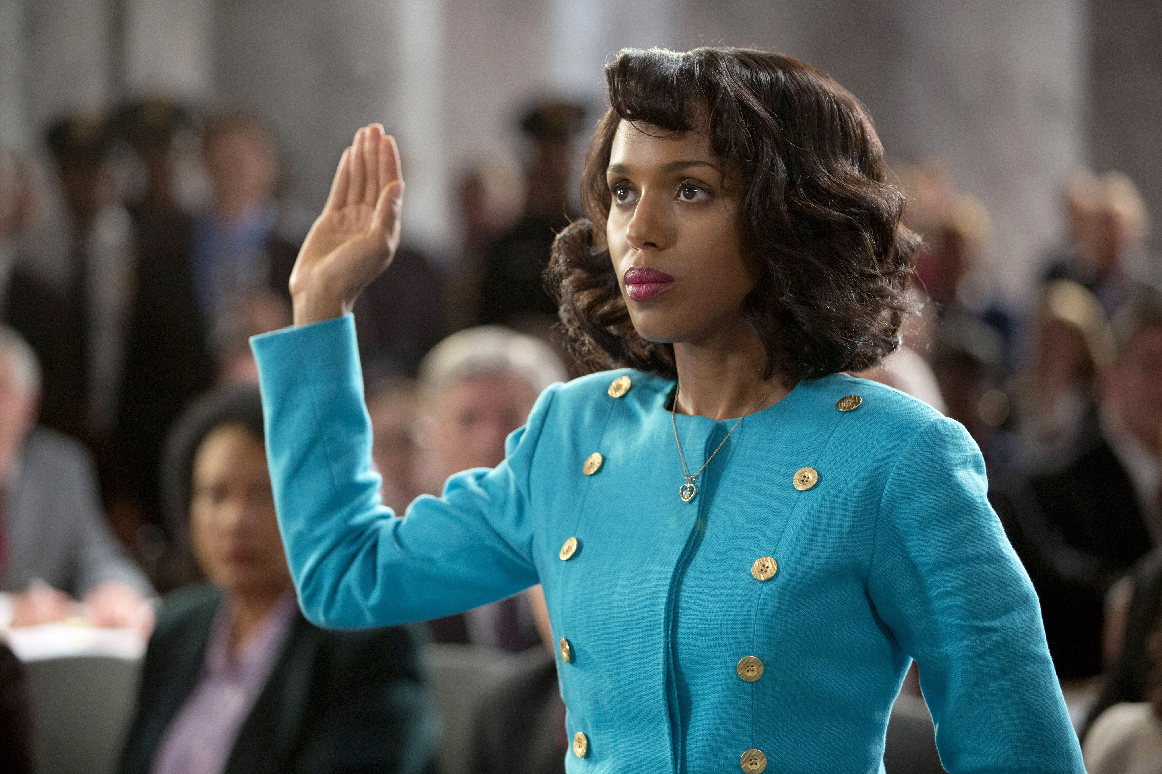 "Kerry Washington plays Anita Hill in HBO's ""Confirmation,"" about Clarence Thomas' Supreme Court confirmation hearings in 1991."