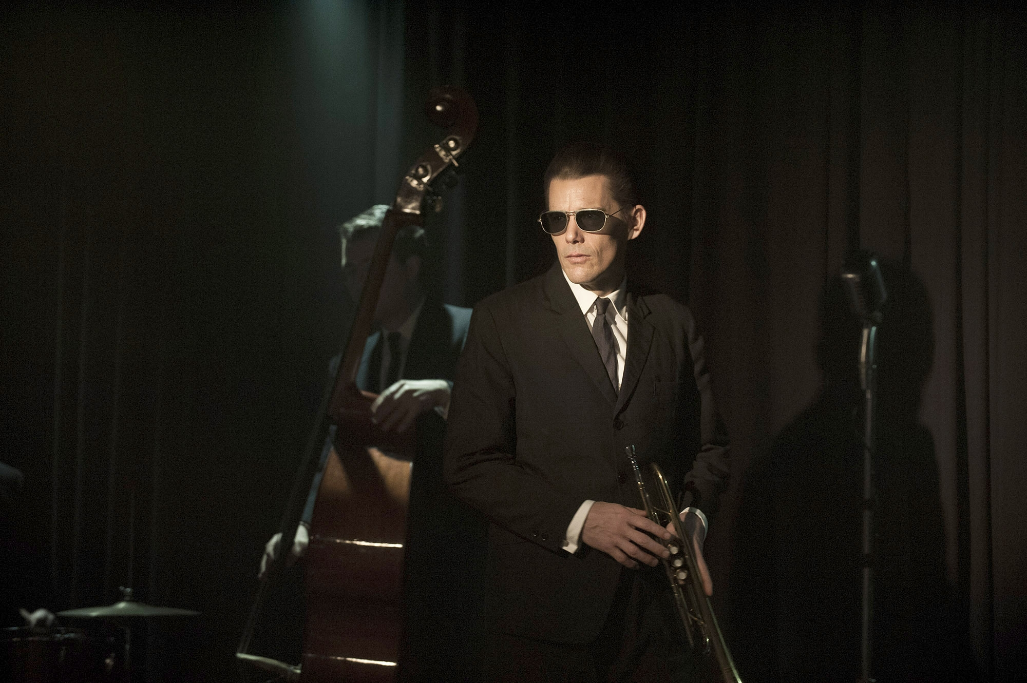"Ethan Hawke is Chet Baker in ""Born to Be Blue."""
